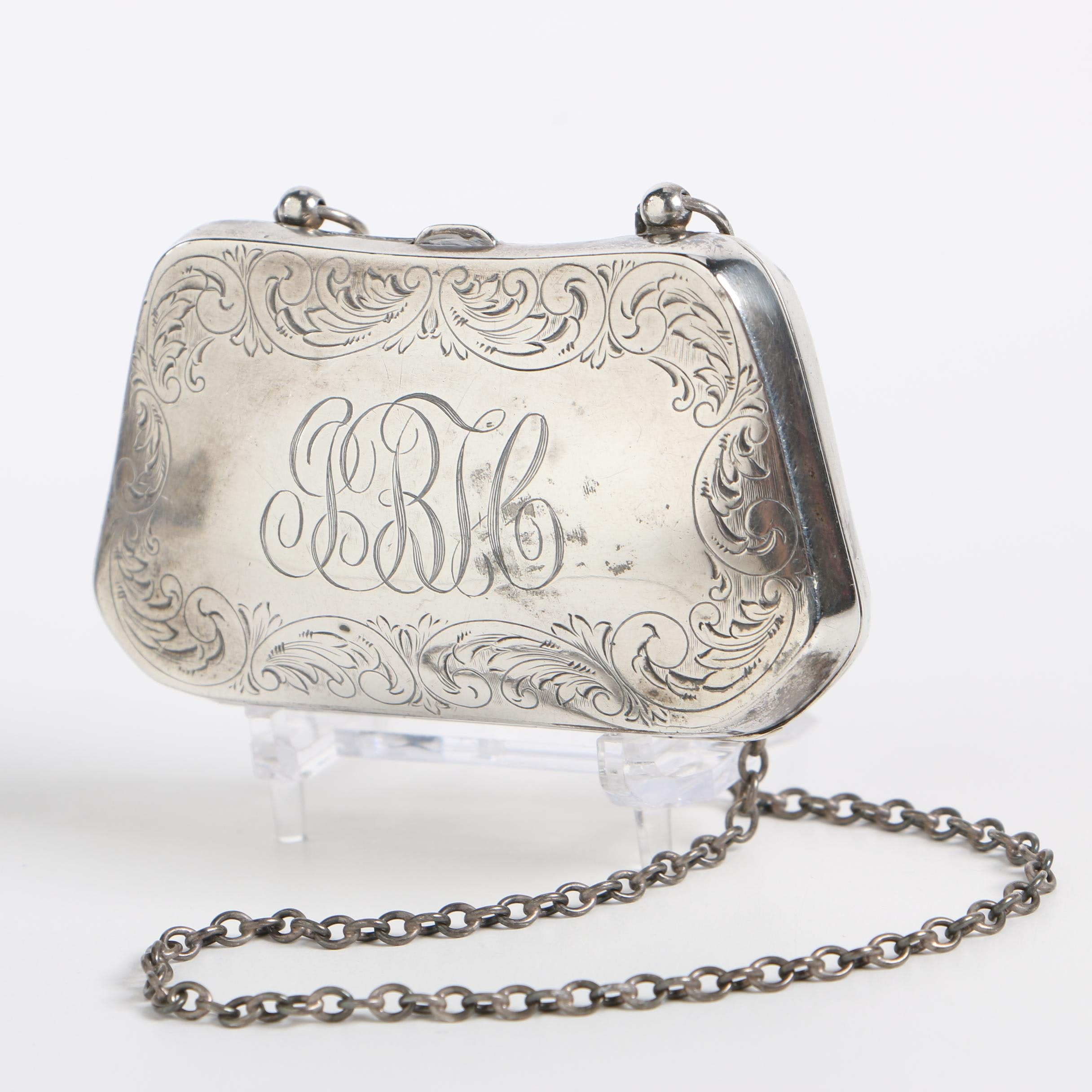 Codding Bros. & Heilbron Sterling Coin Case, Late 19th/ Early 20th Century