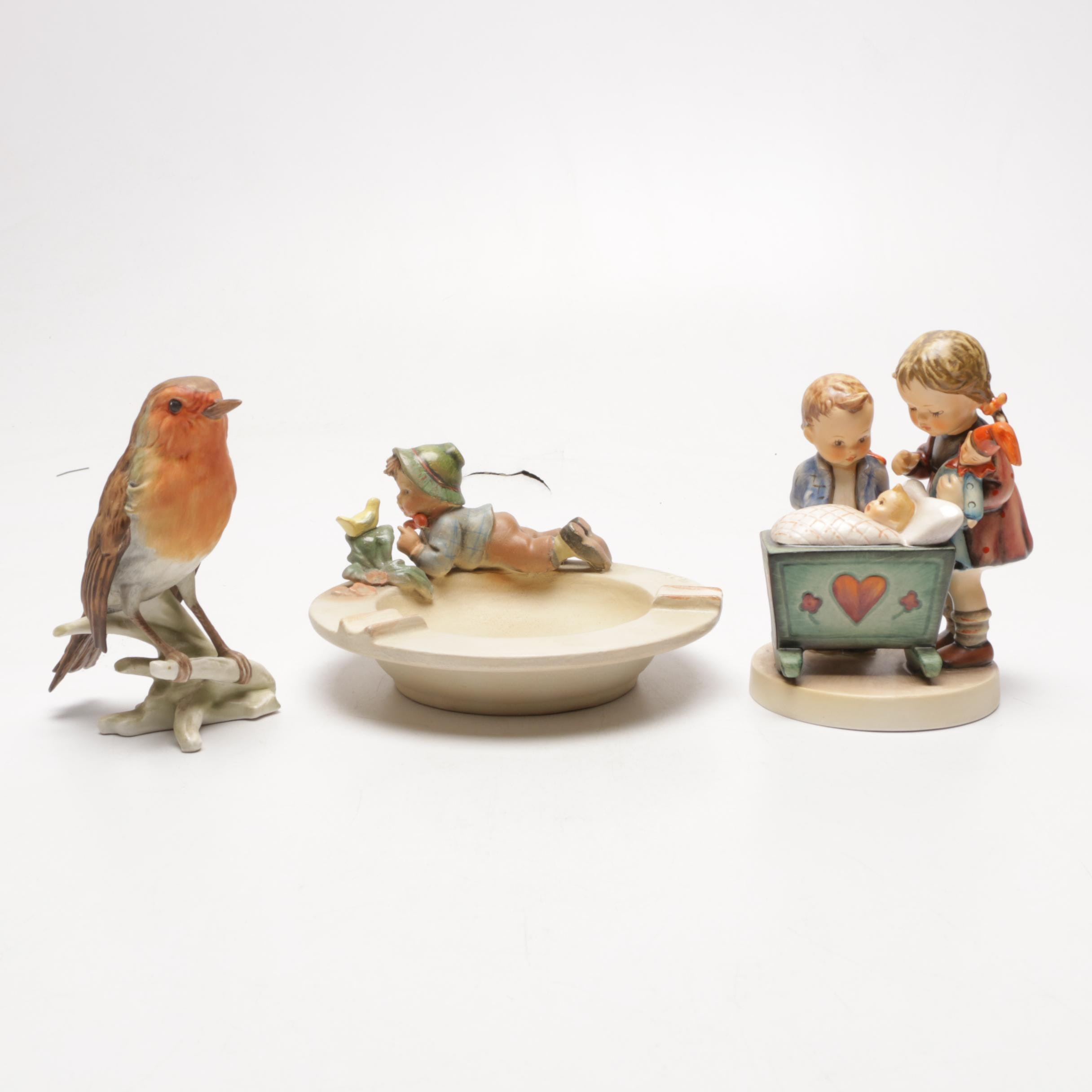 Hummel Figurines and Ash Receiver