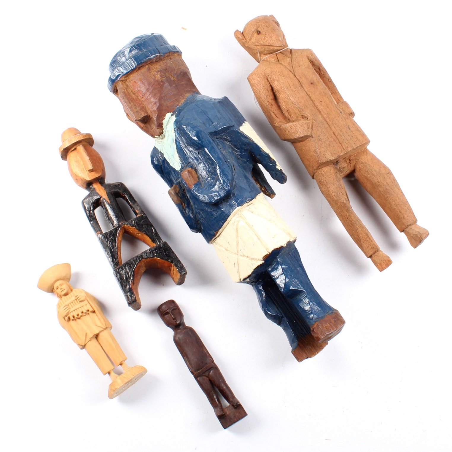 South American Carved Wooden Figures