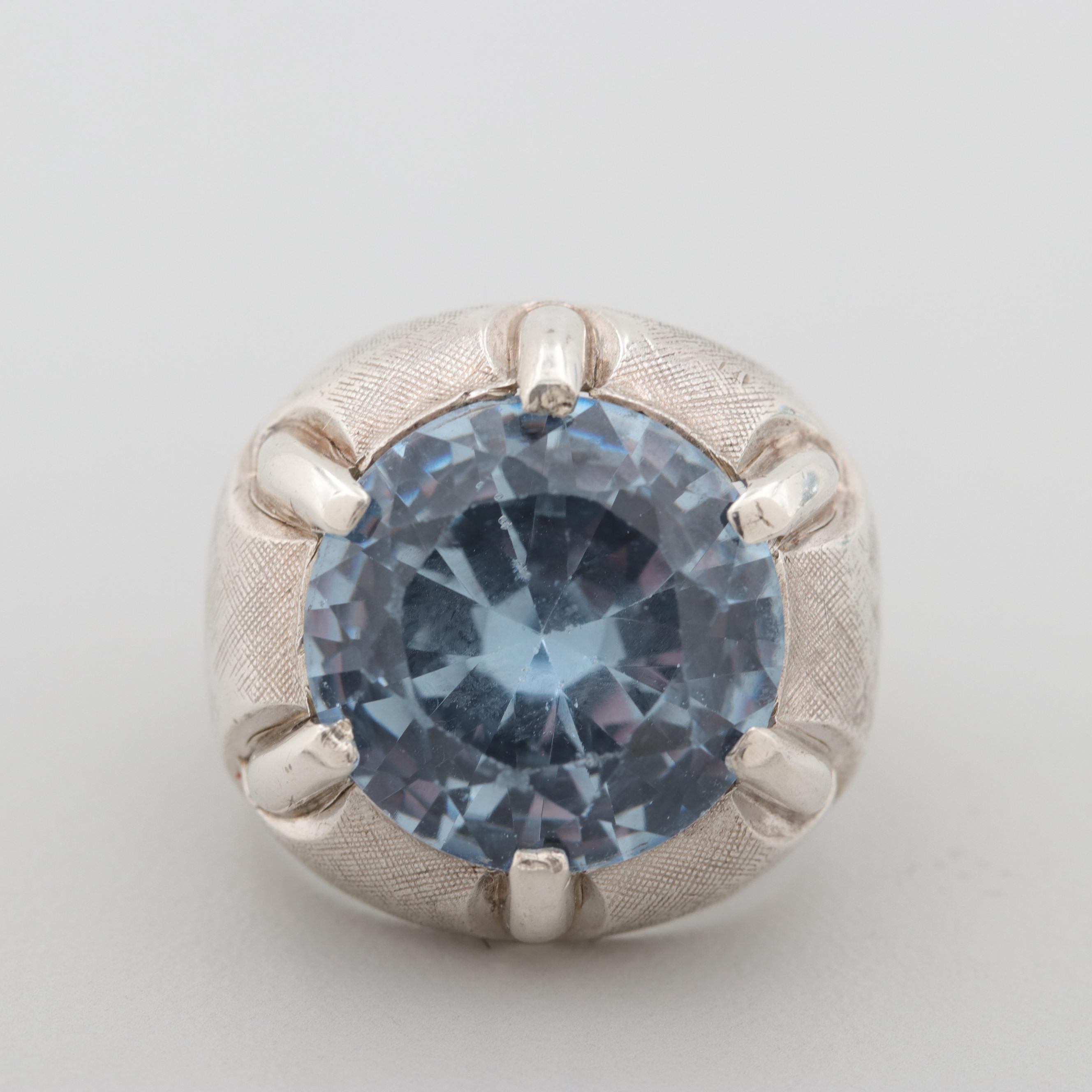 Sterling Silver Synthetic Spinel Ring