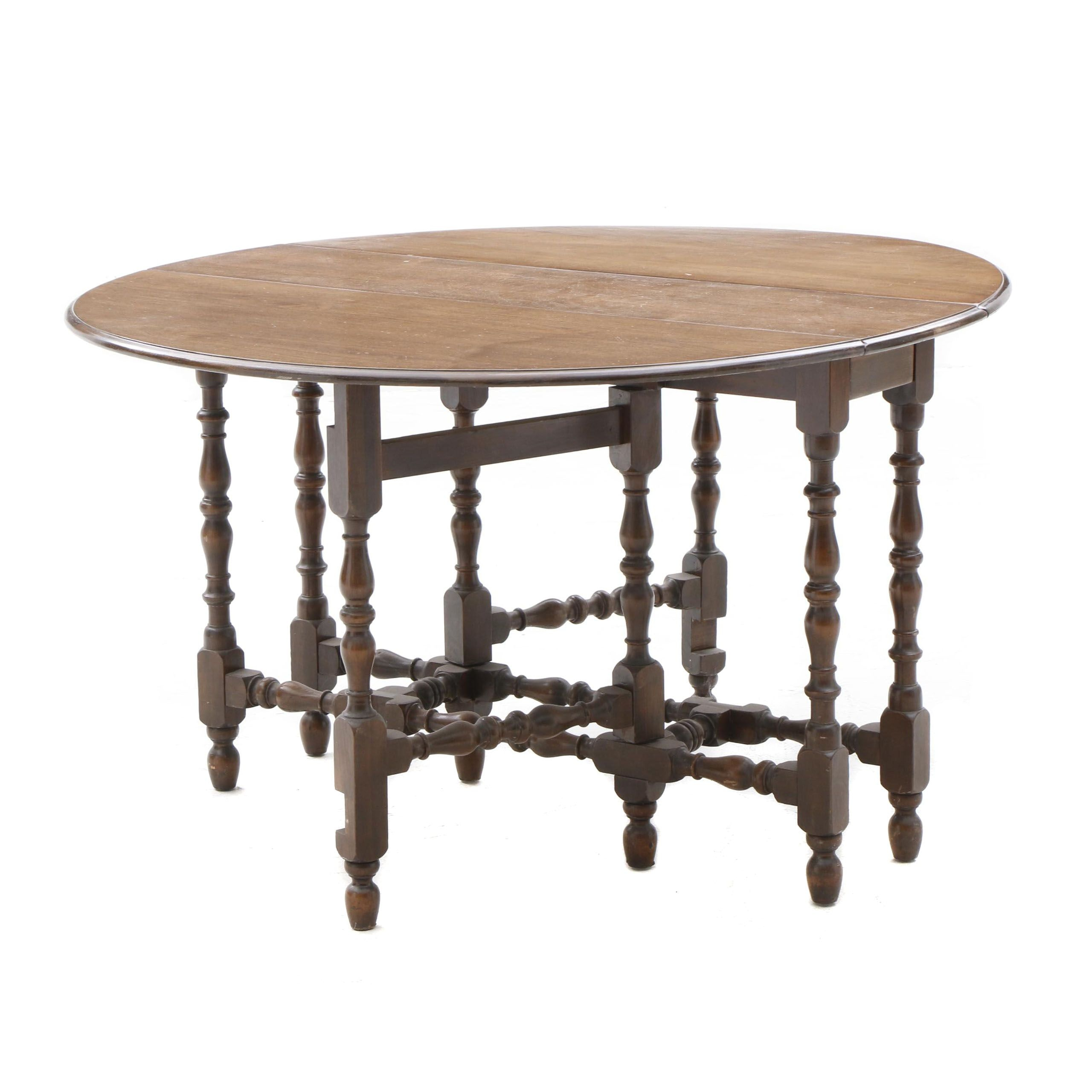 Walnut Gate-Leg Drop Leaf Table