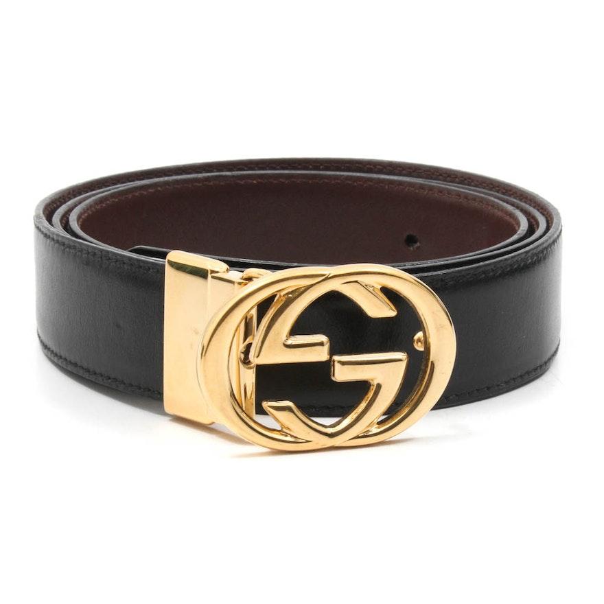 4cddfecd47f Vintage Gucci Leather Belt