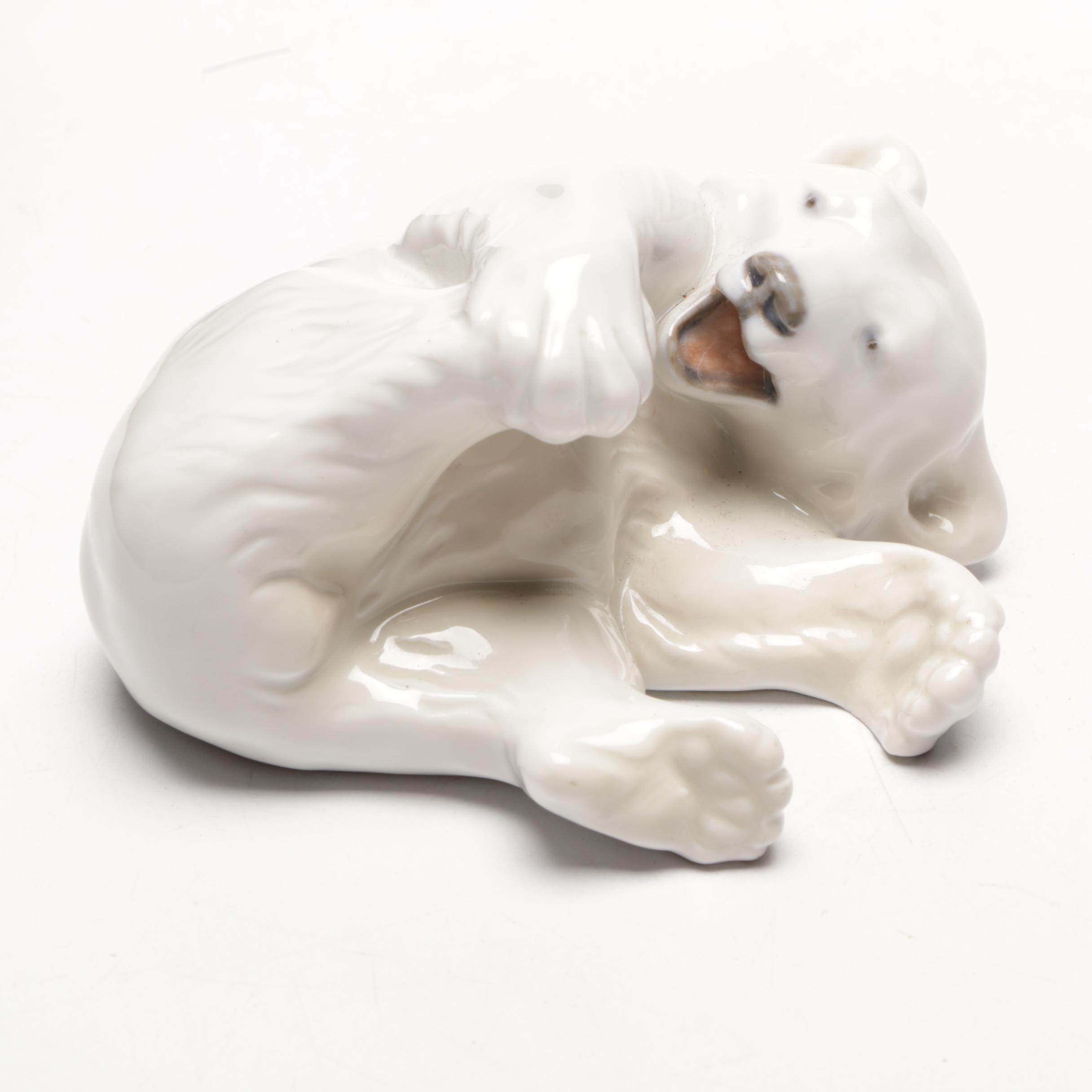 Royal Copenhagen Porcelain Polar Bear Figurine