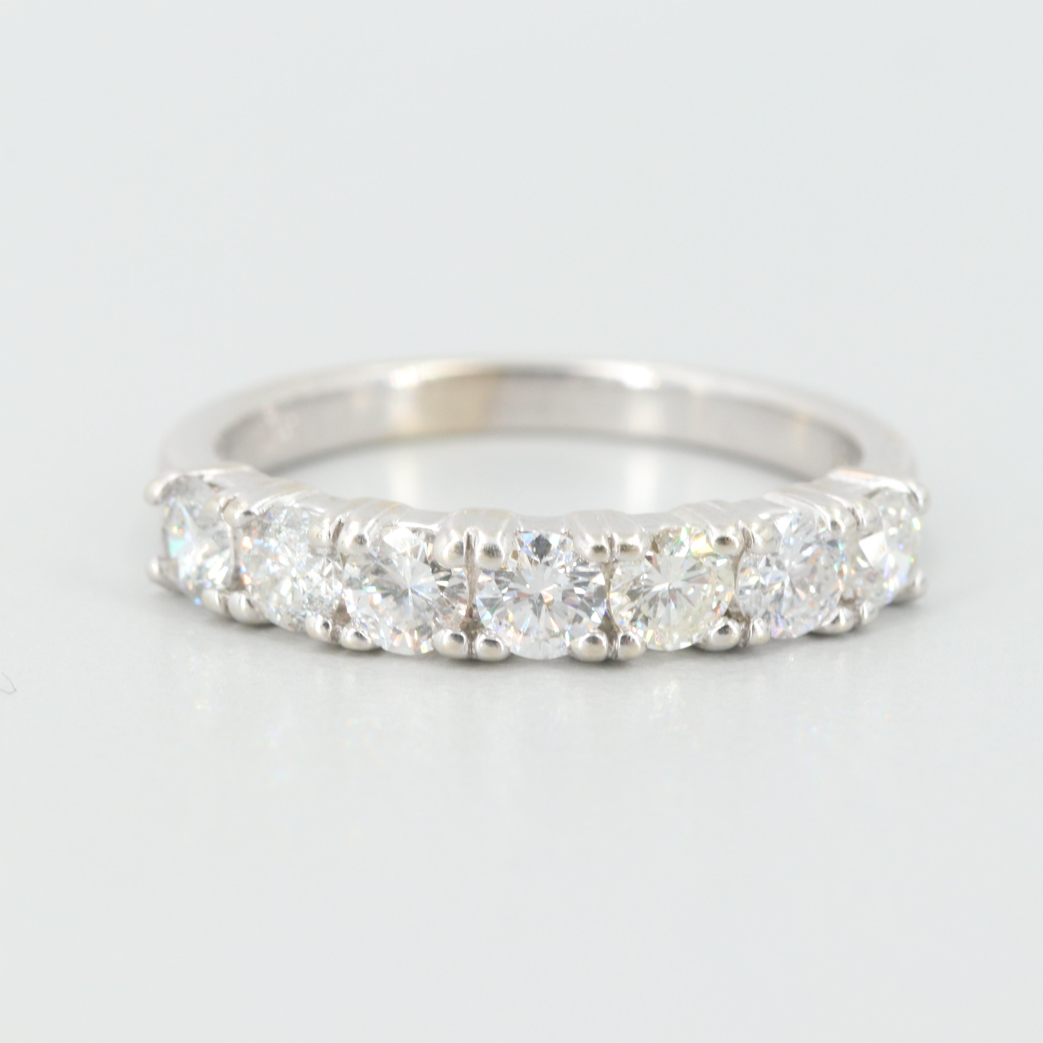 14K White Gold 1.05 CTW Diamond Ring