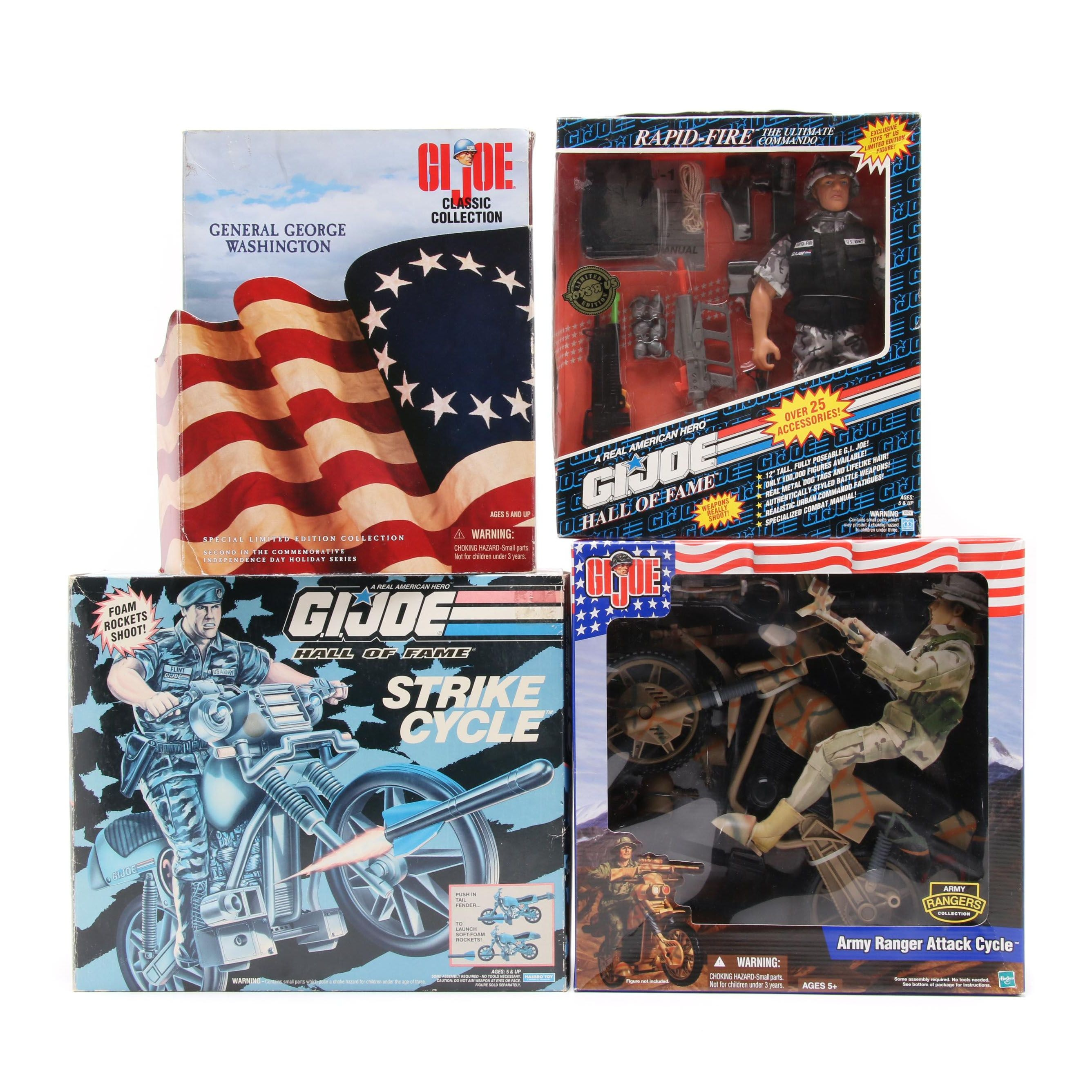"G. I. Joe Action Figures and Accessories Including ""G. I. Joe Hall of Fame"""