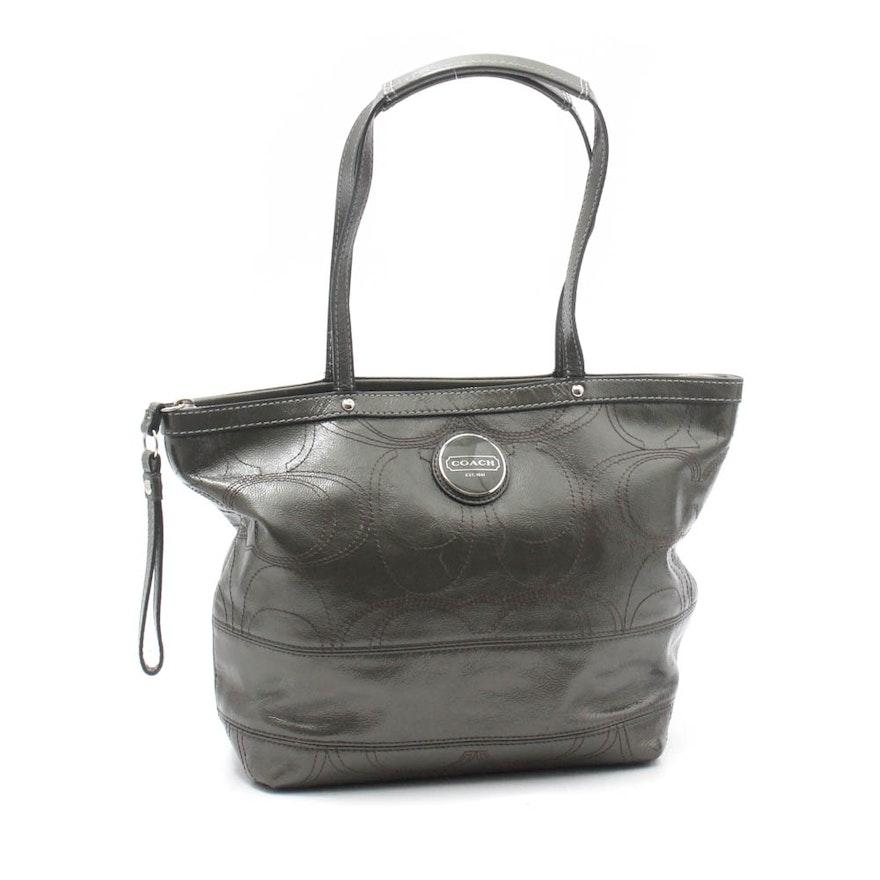 c4cbc3faee6f Coach Signature Tote Bag : EBTH