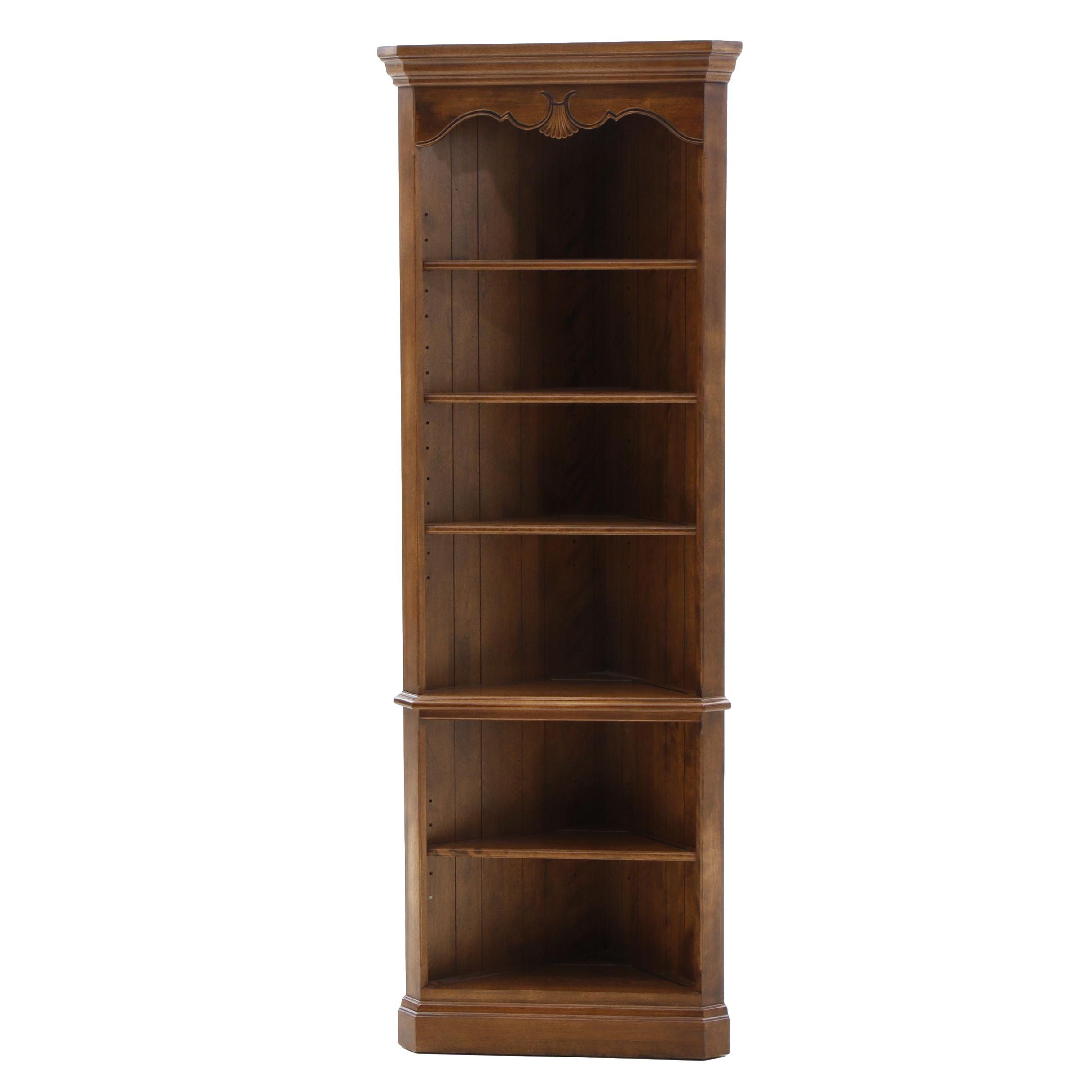 Ethan Allen Corner Bookcase Unit