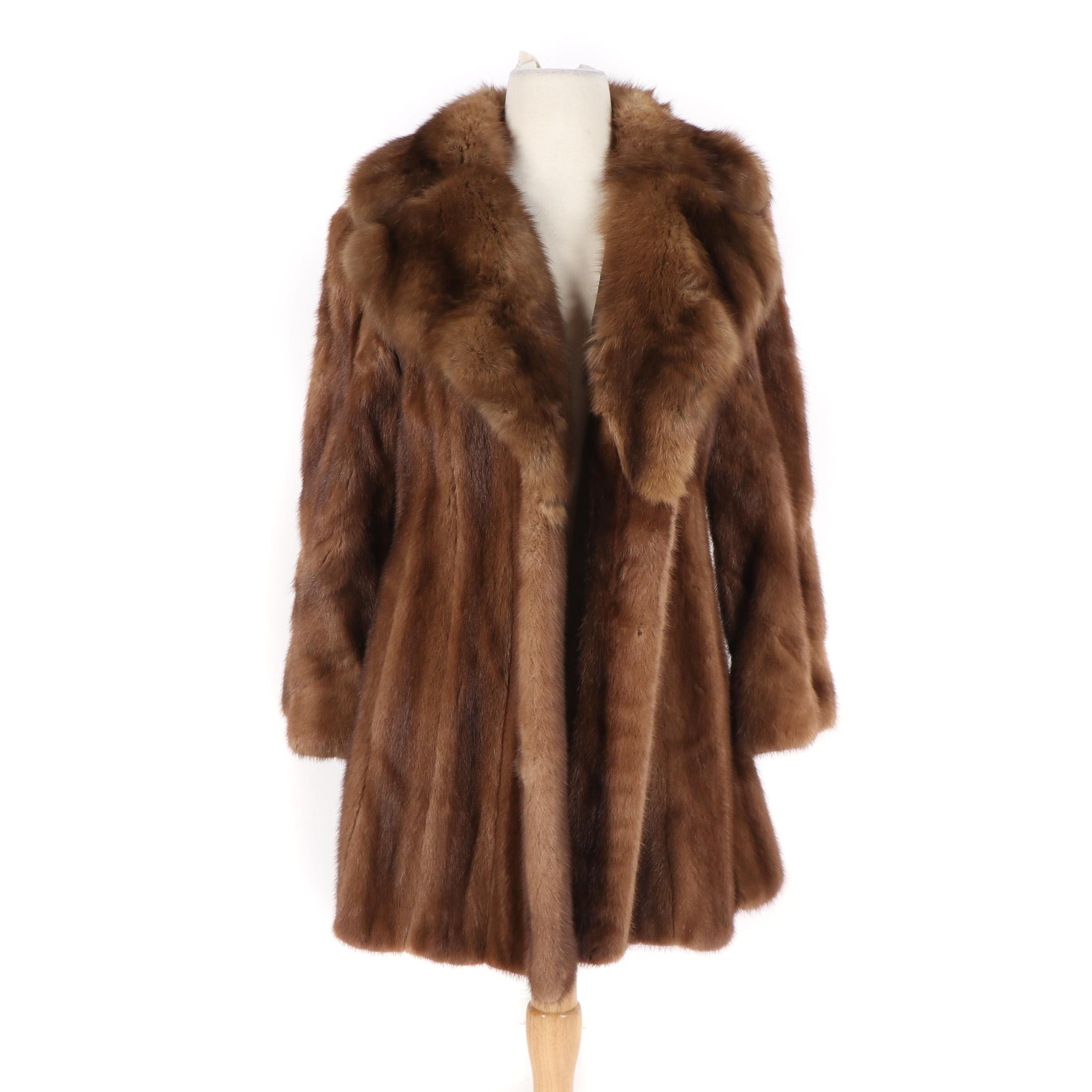 Women's Demi-Buff Mink Fur Swing Coat