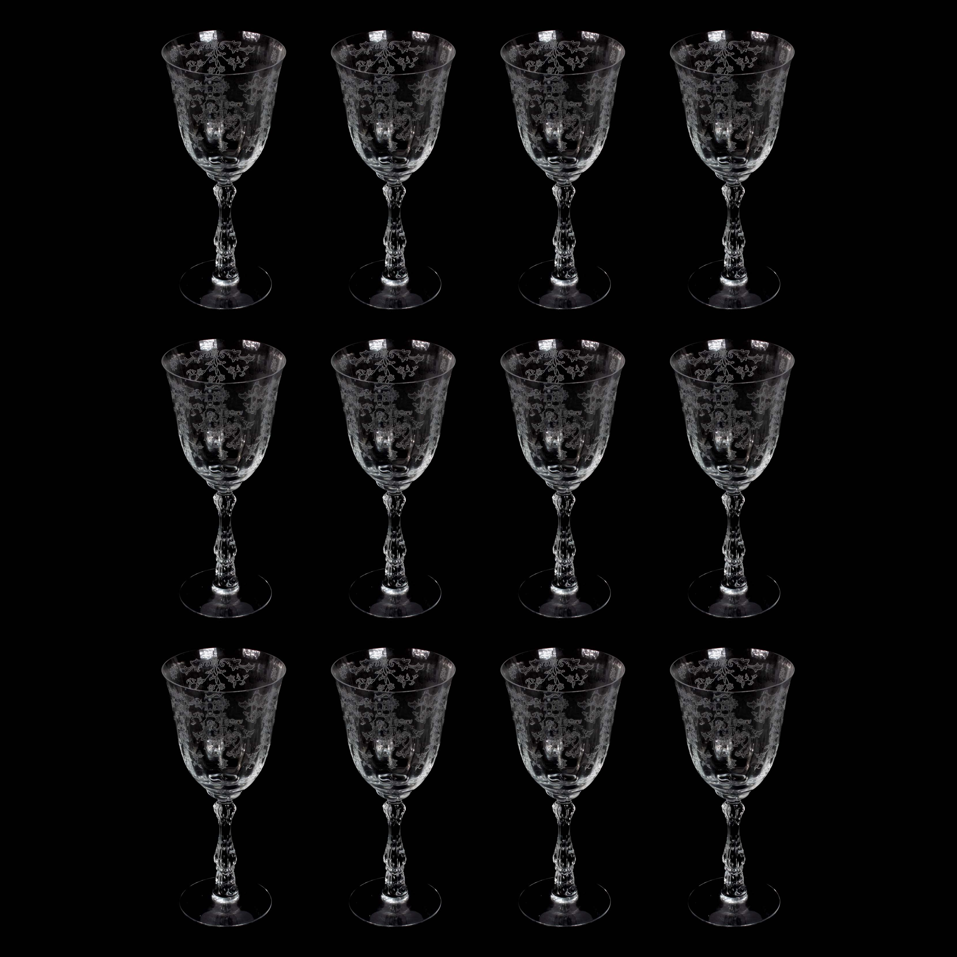 "Fostoria ""Navarre"" Glass Water Goblets"