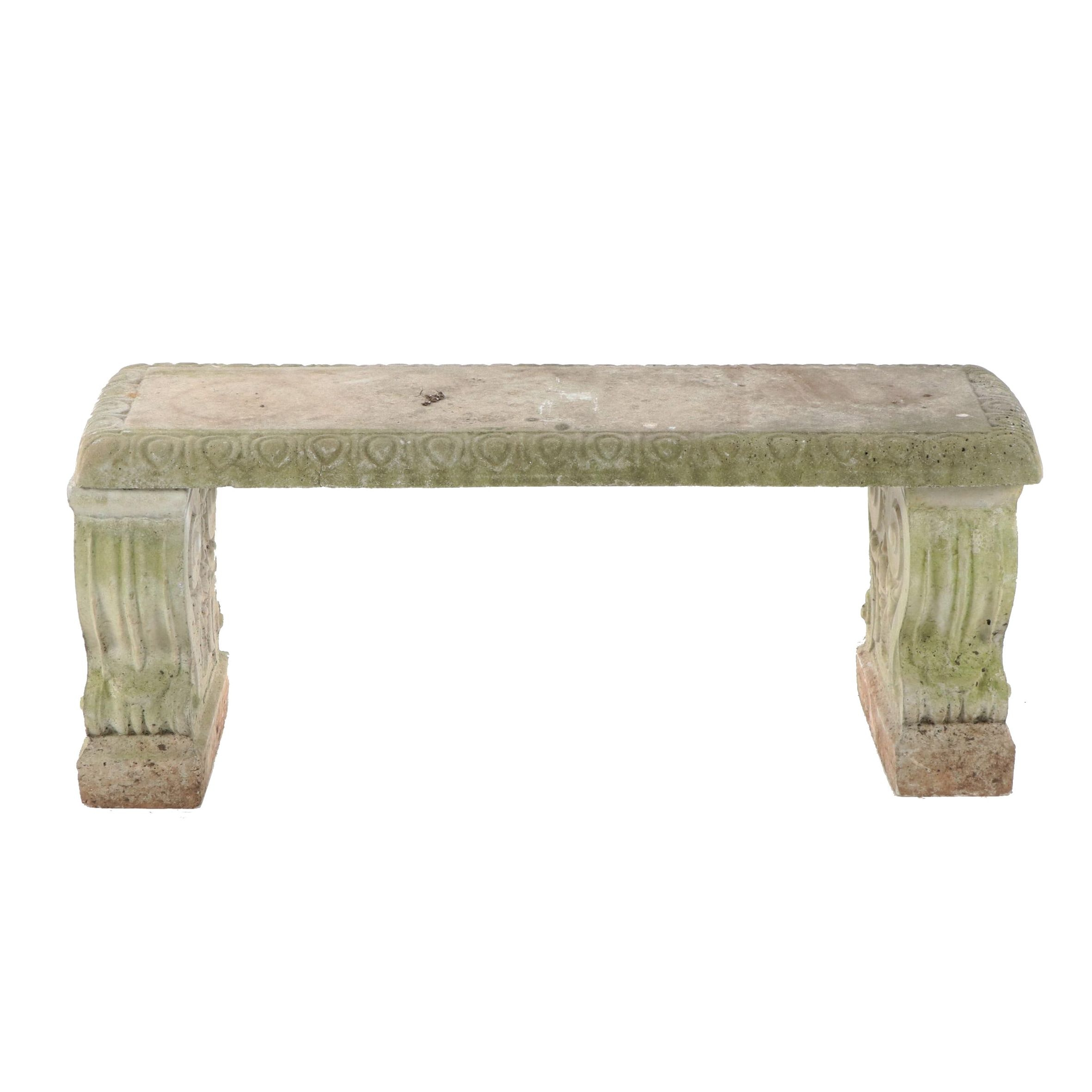 Outdoor Concrete Bench, 20th/21st Century