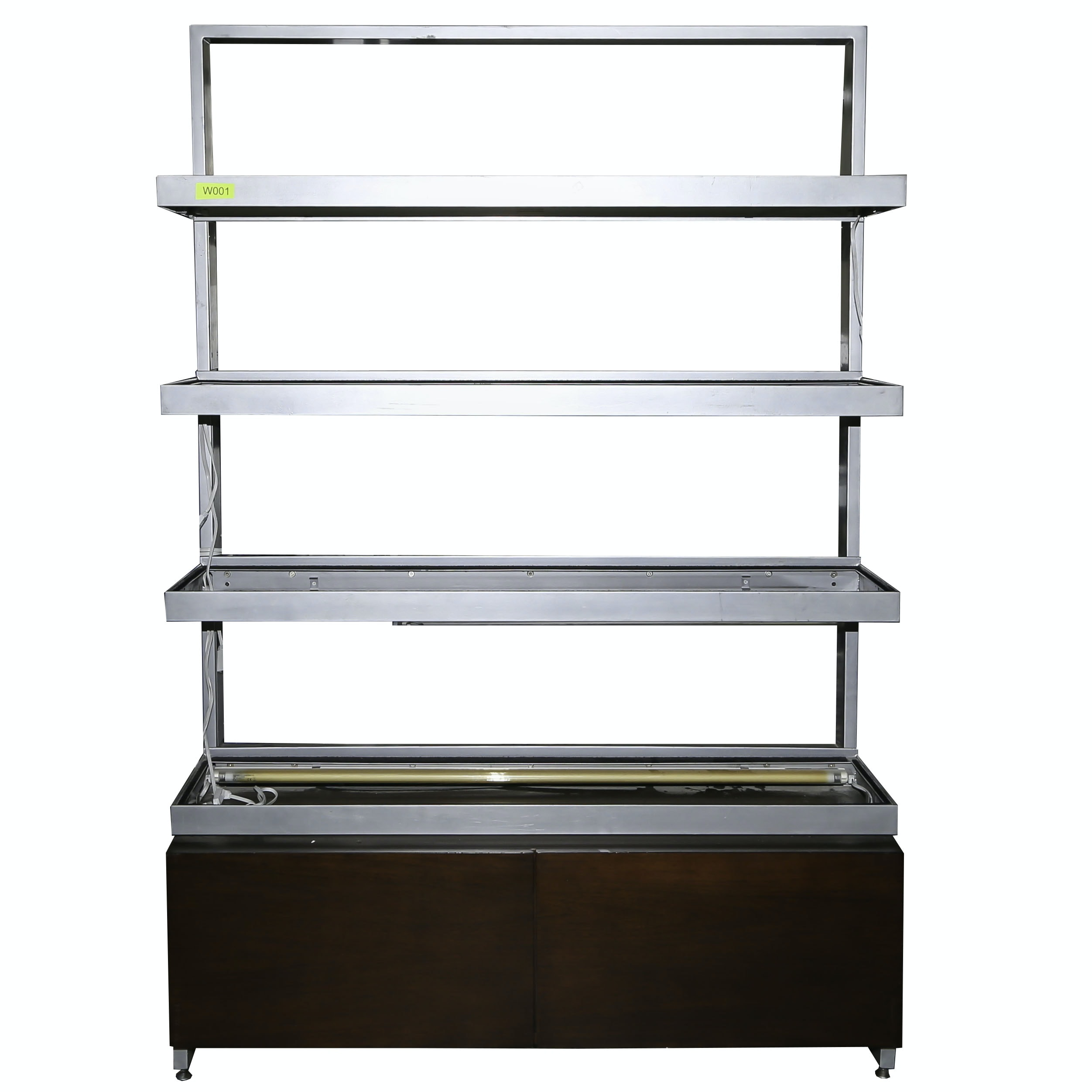Lighted Commercial Display Shelf with Drawer Storage, 21st Century