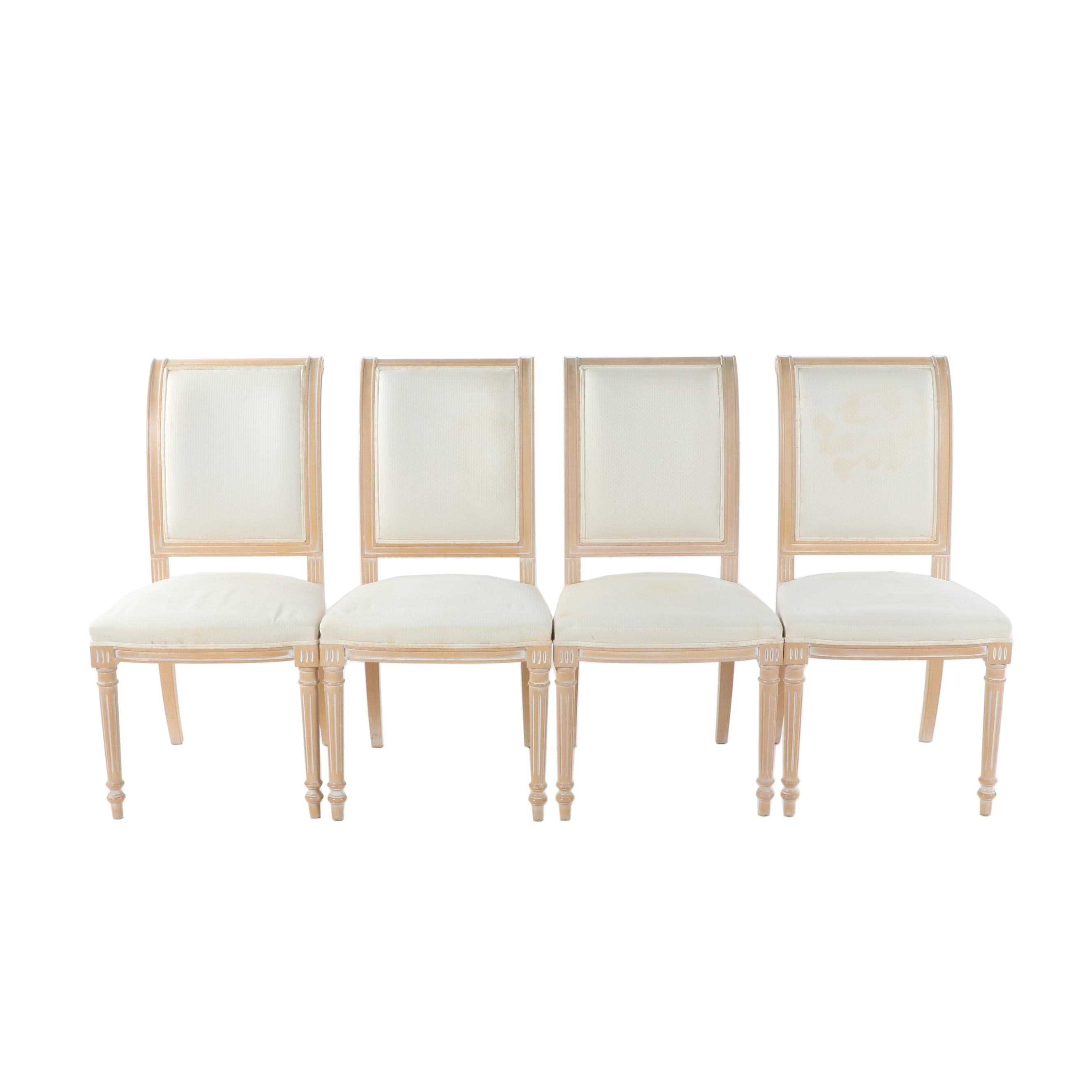 Louis XVI Style Upholstered Dining Chairs, 21st Century