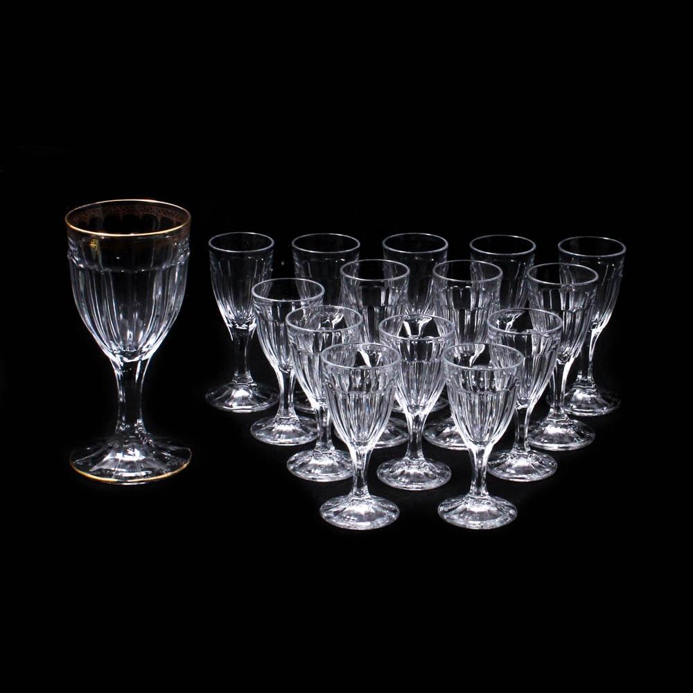"Heisey ""Narrow Flute"" Glass Stemware, circa 1909-35"