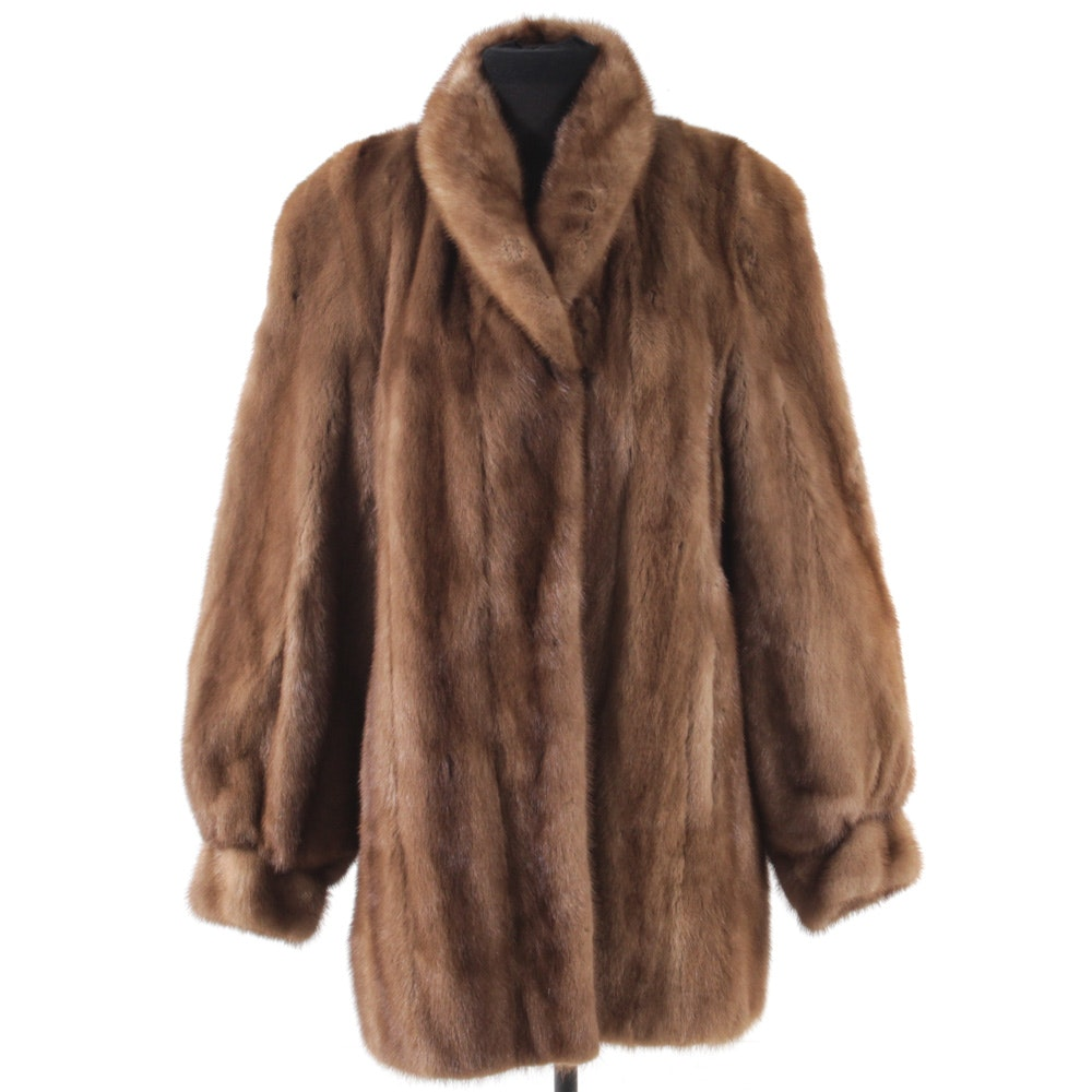 Vintage Canadian Mink Fur Coat