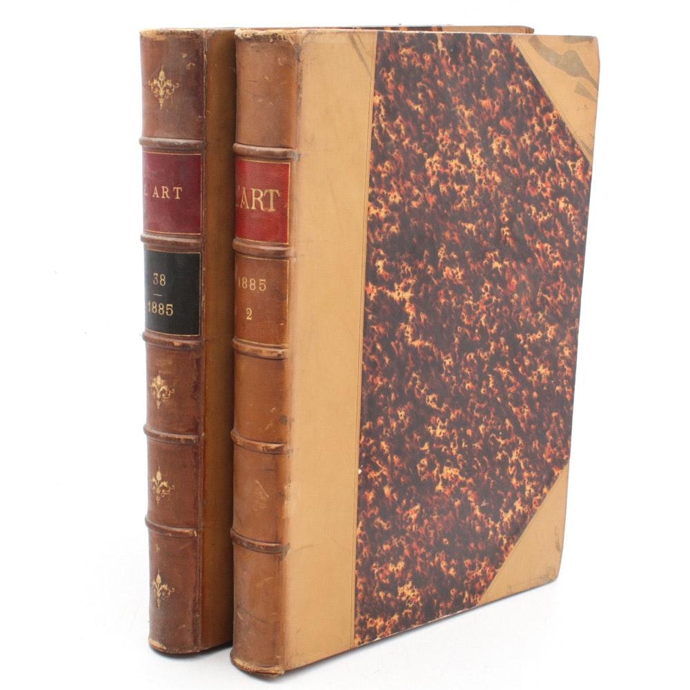 """1885 """"L'Art Revue Hebdomadaire Illustrée"""" Bound Periodicals"""