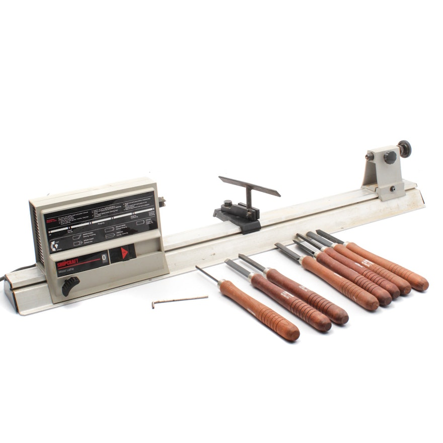 Shopcraft Lathe With Craftsman Woodworking Tools