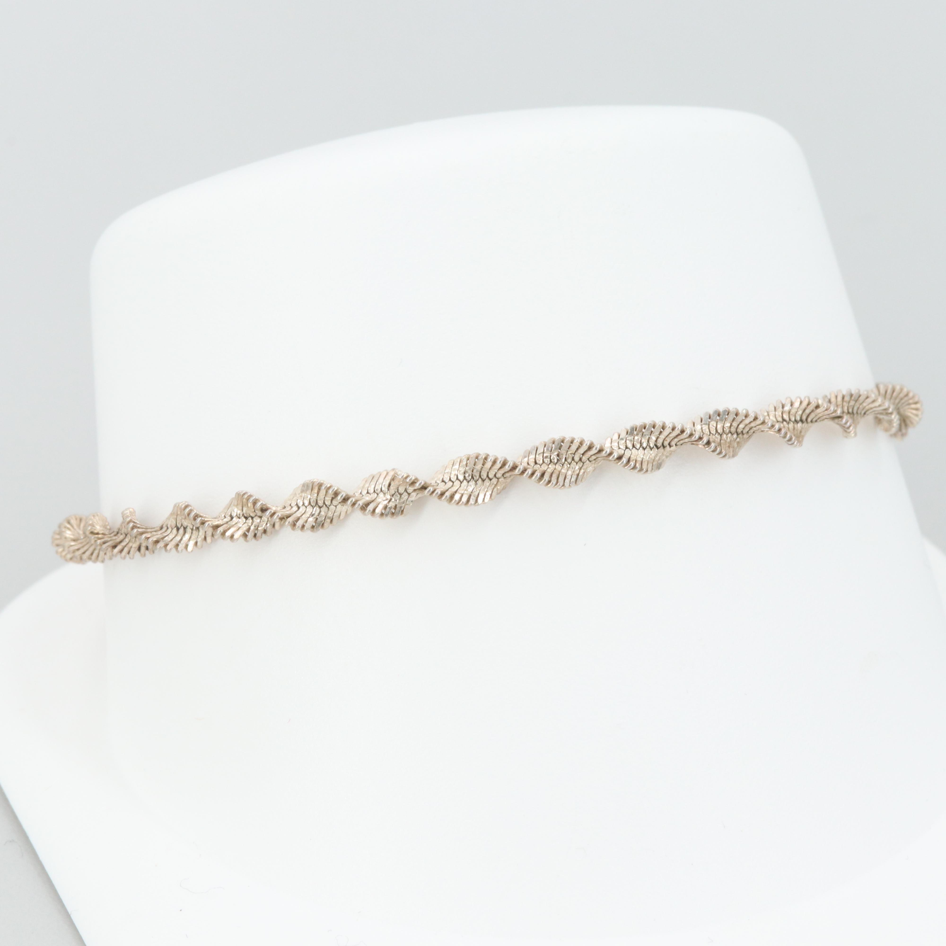 Silver Tone Twist Bracelet