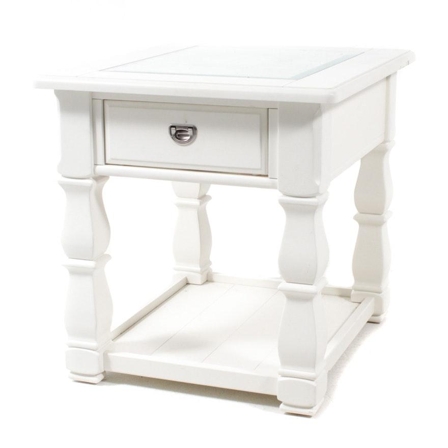 Phenomenal American Signature Glass Top Side Table Inzonedesignstudio Interior Chair Design Inzonedesignstudiocom