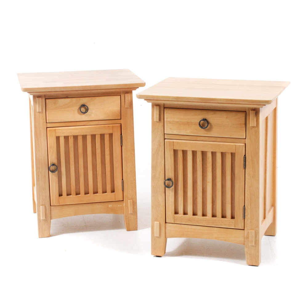 American Signature Arts and Crafts Style Nightstands