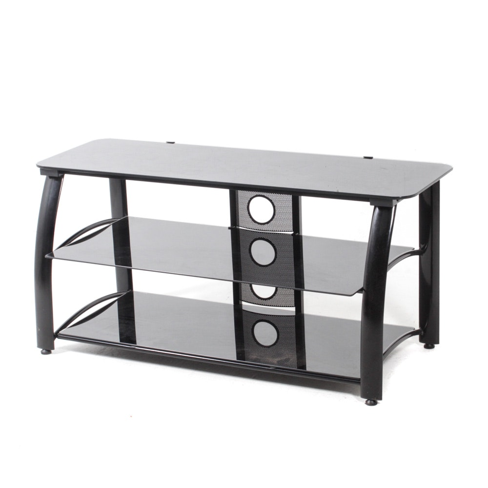 Glass Top Metal Frame Entertainment Stand