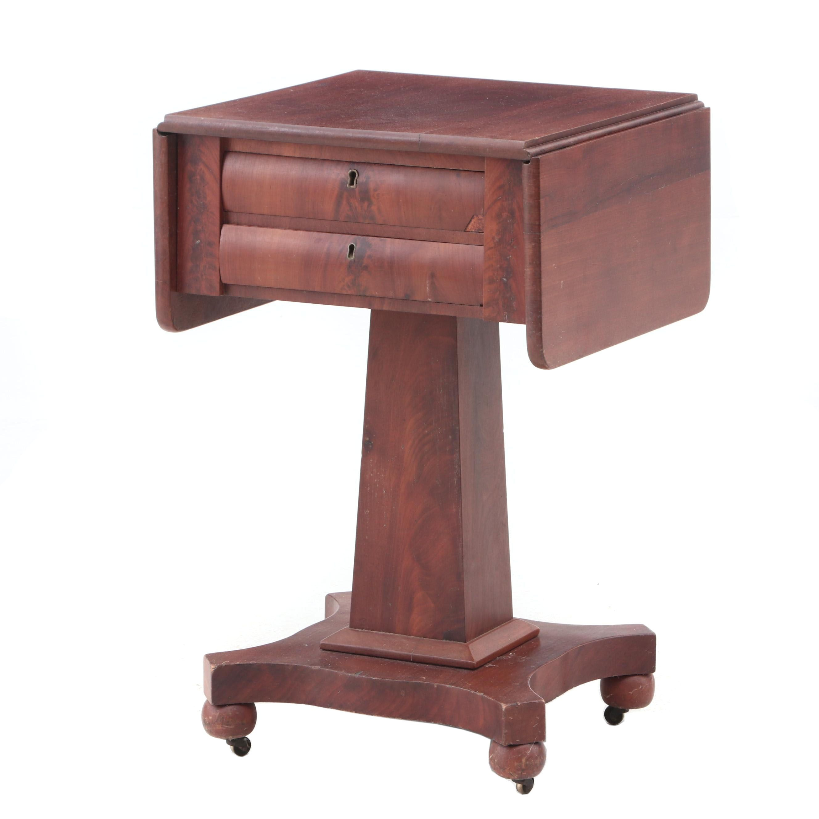Empire Work Table with Drop Leaves, circa 1840