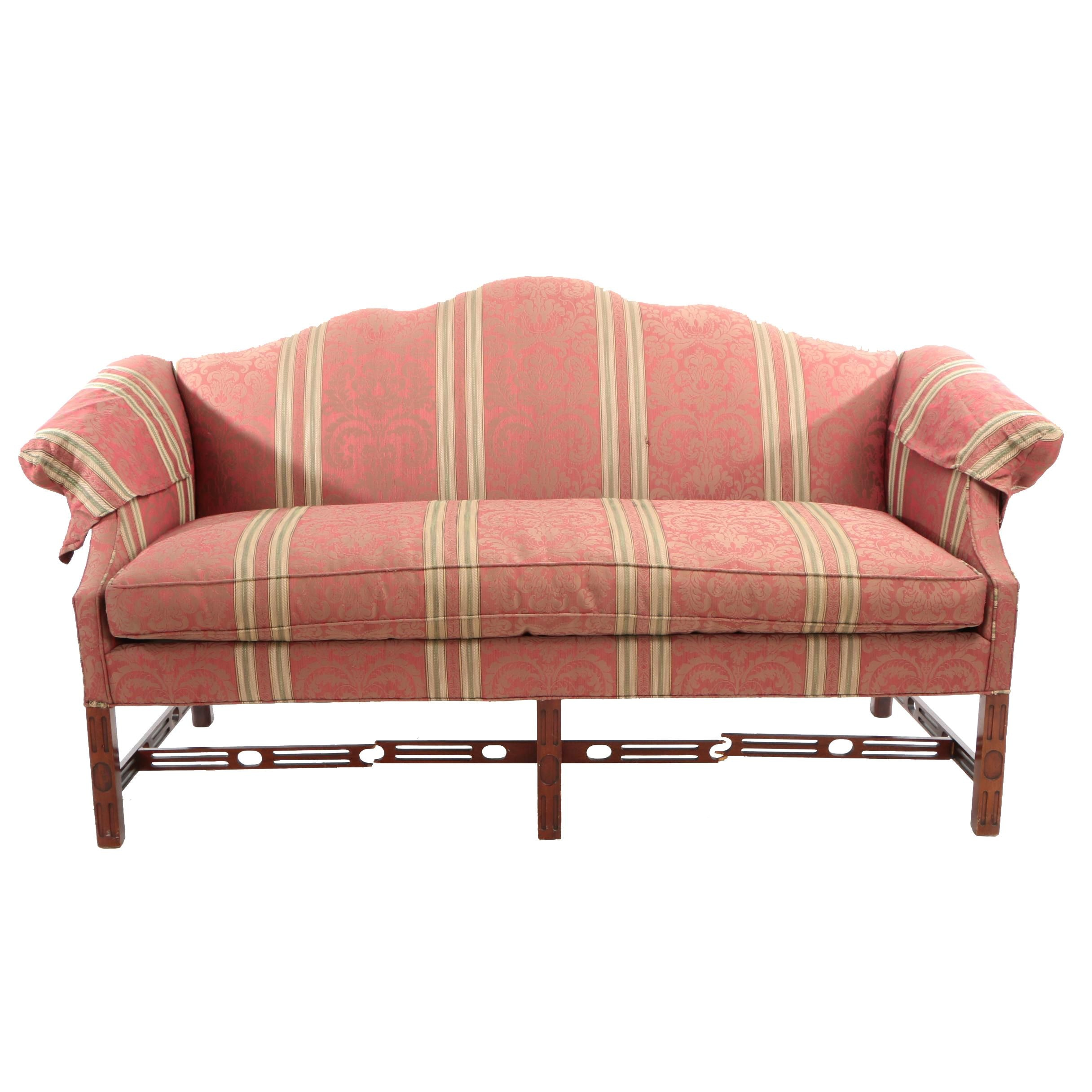 George III Style Mahogany Sofa by Hickory Chair, 20th Century