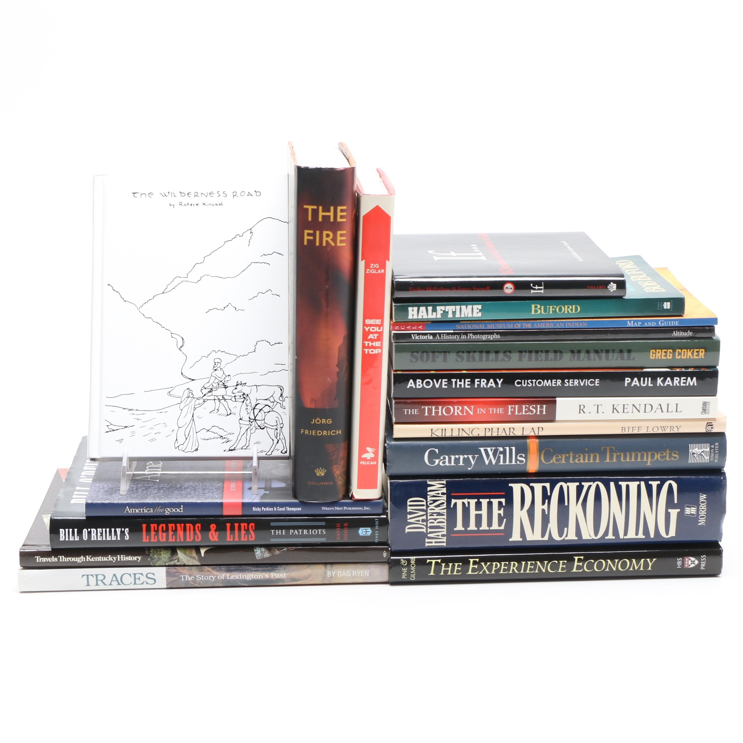 "Nonfiction Book Collection including ""The Wilderness Road"" by Robert Kincaid"