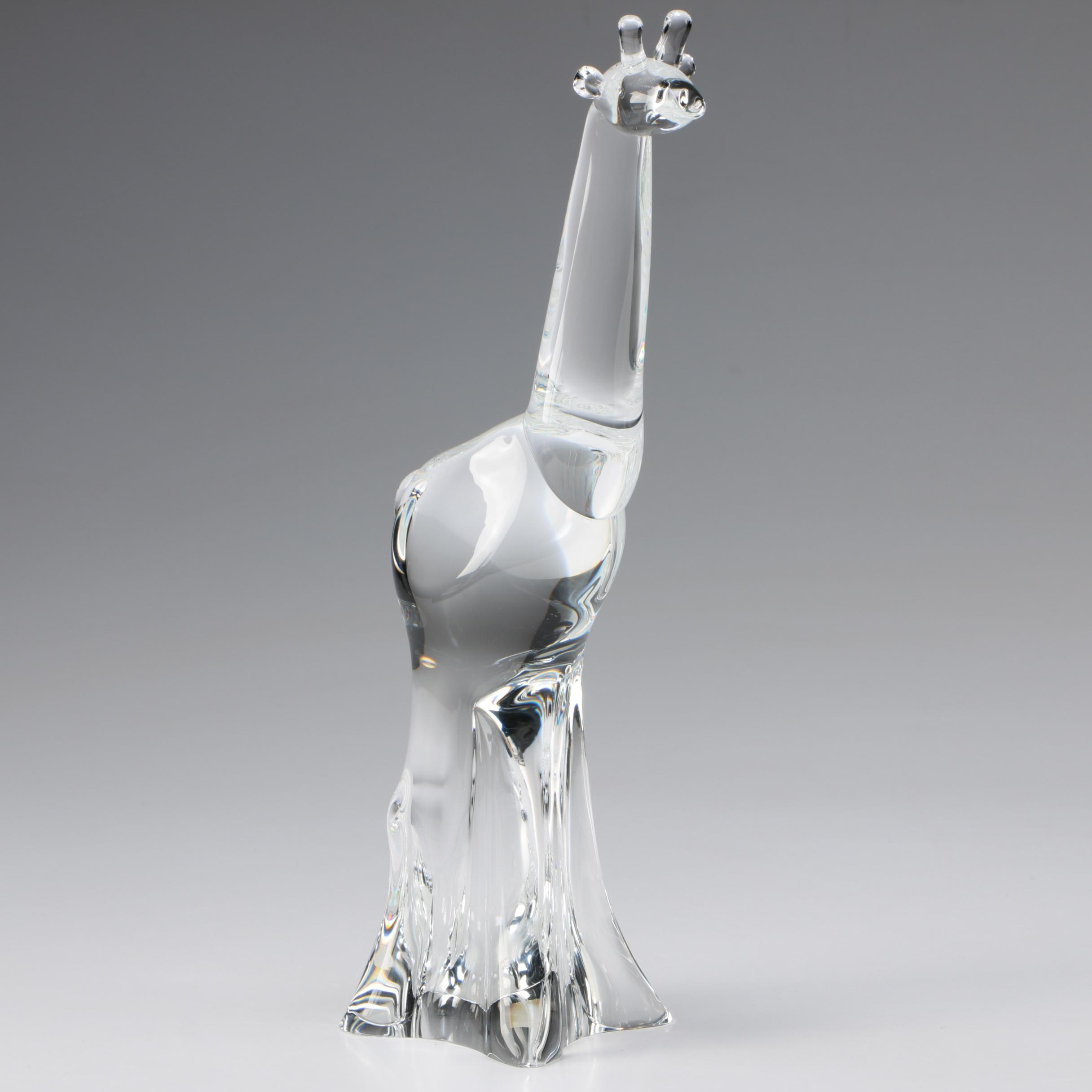 "Steuben Art Glass ""Giraffe"" Figurine, Mid to Late 20th Century"