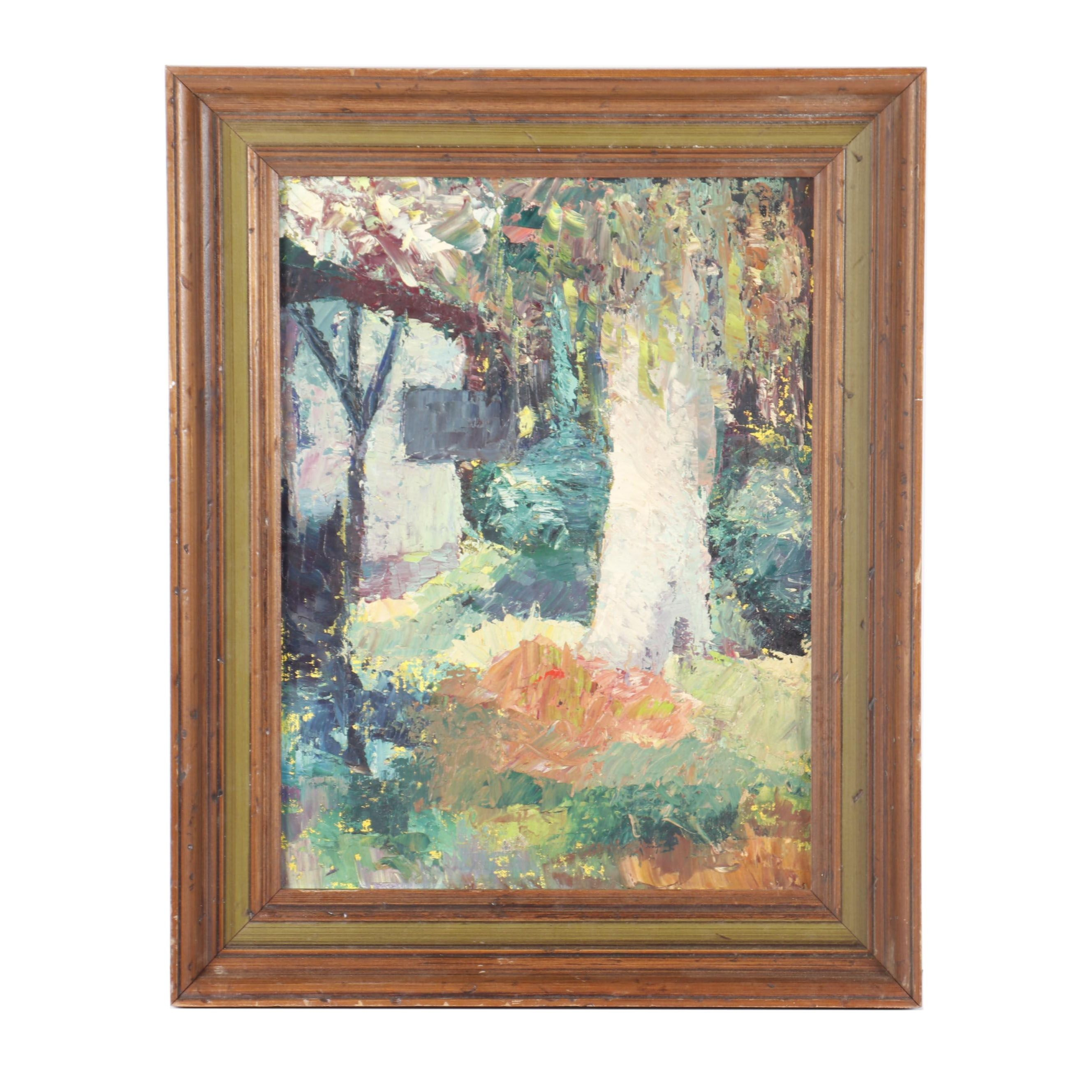 Landscape Oil Painting in the Manner of Leon Gaspard