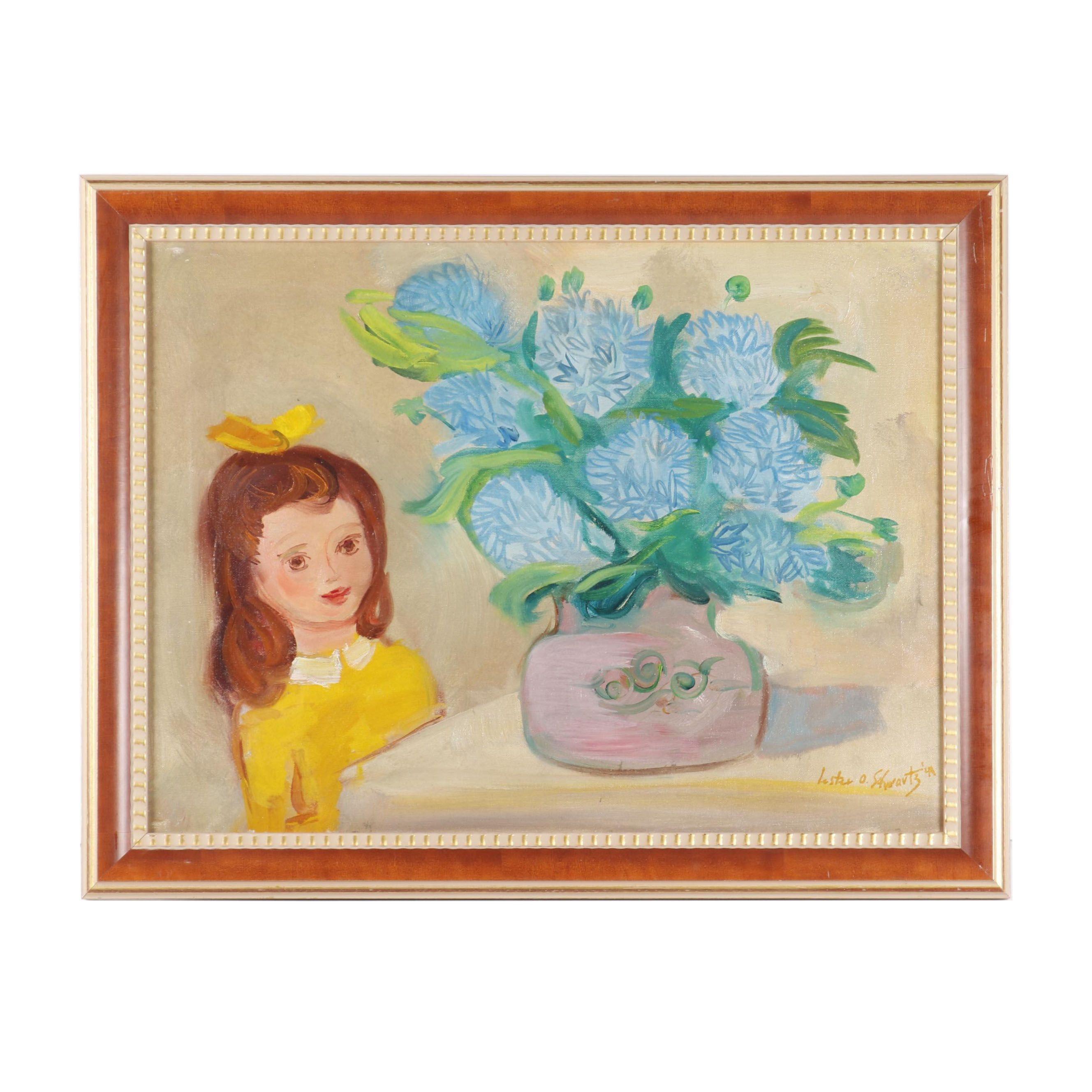 Lester O. Schwartz Oil Painting