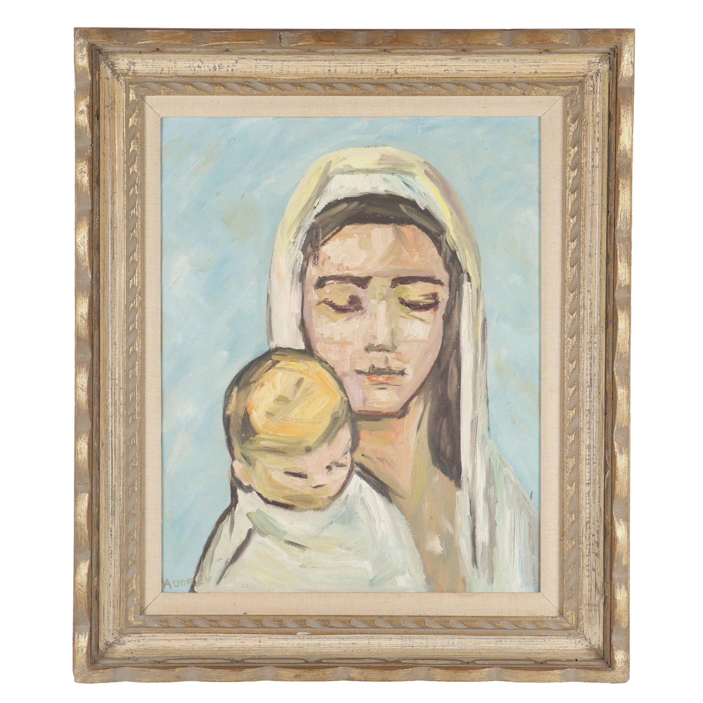 Oil Painting of Madonna and Child