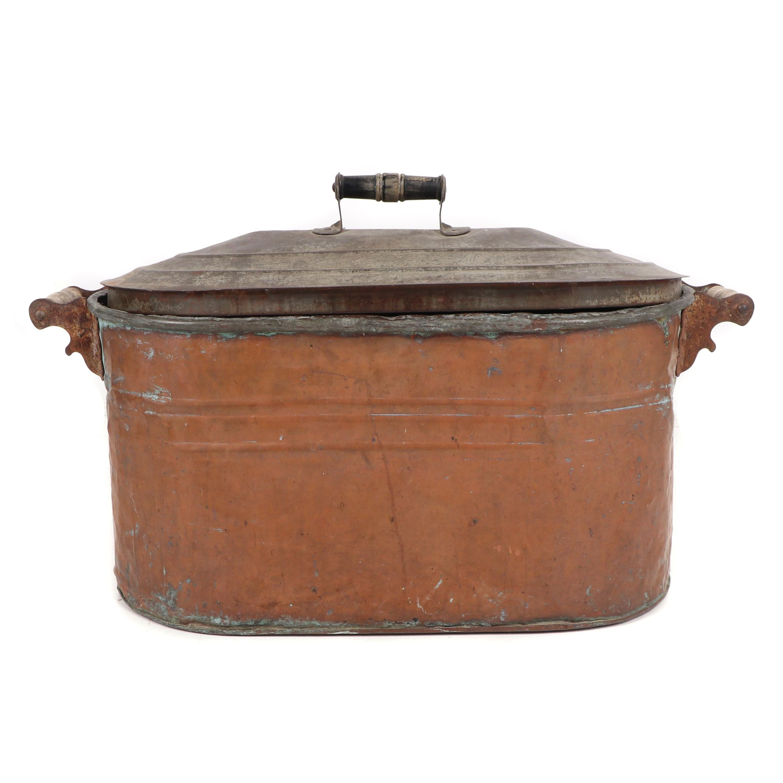 Lidded Copper Boiler, Late 19th to Early 20th Century