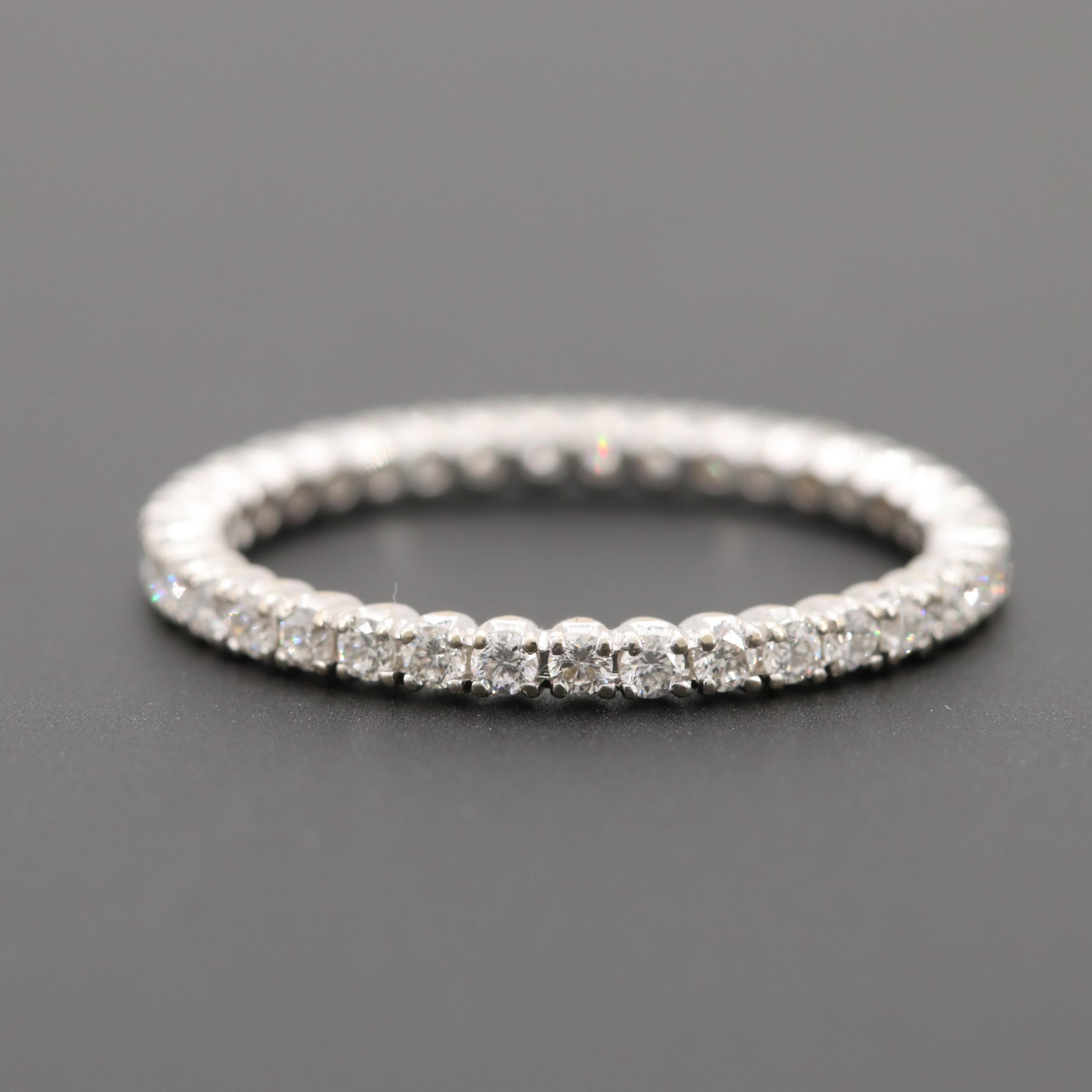 Spark 18K White Gold Diamond Eternity Ring