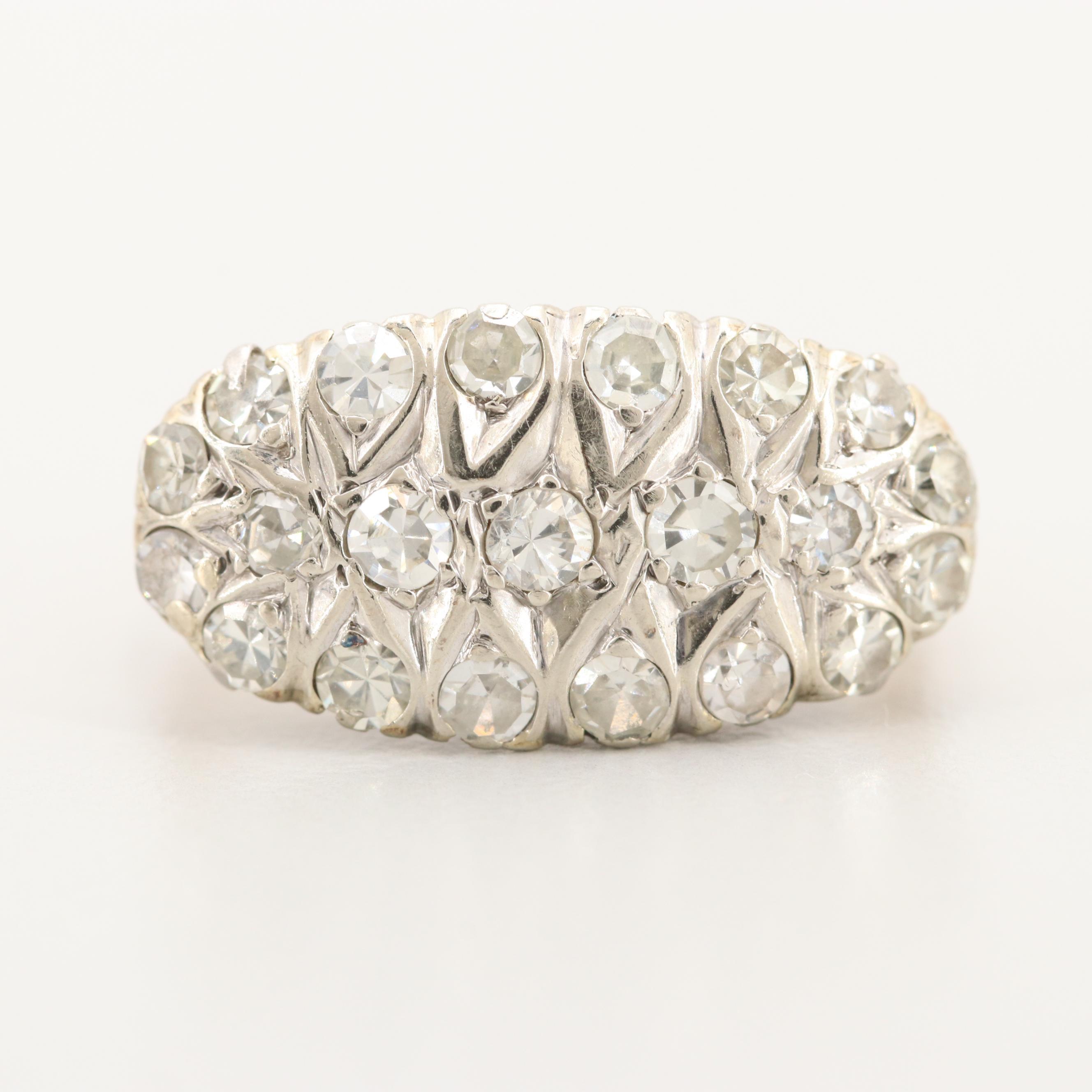 Circa 1930s 14K Yellow and White Gold 1.01 CTW Diamond Ring