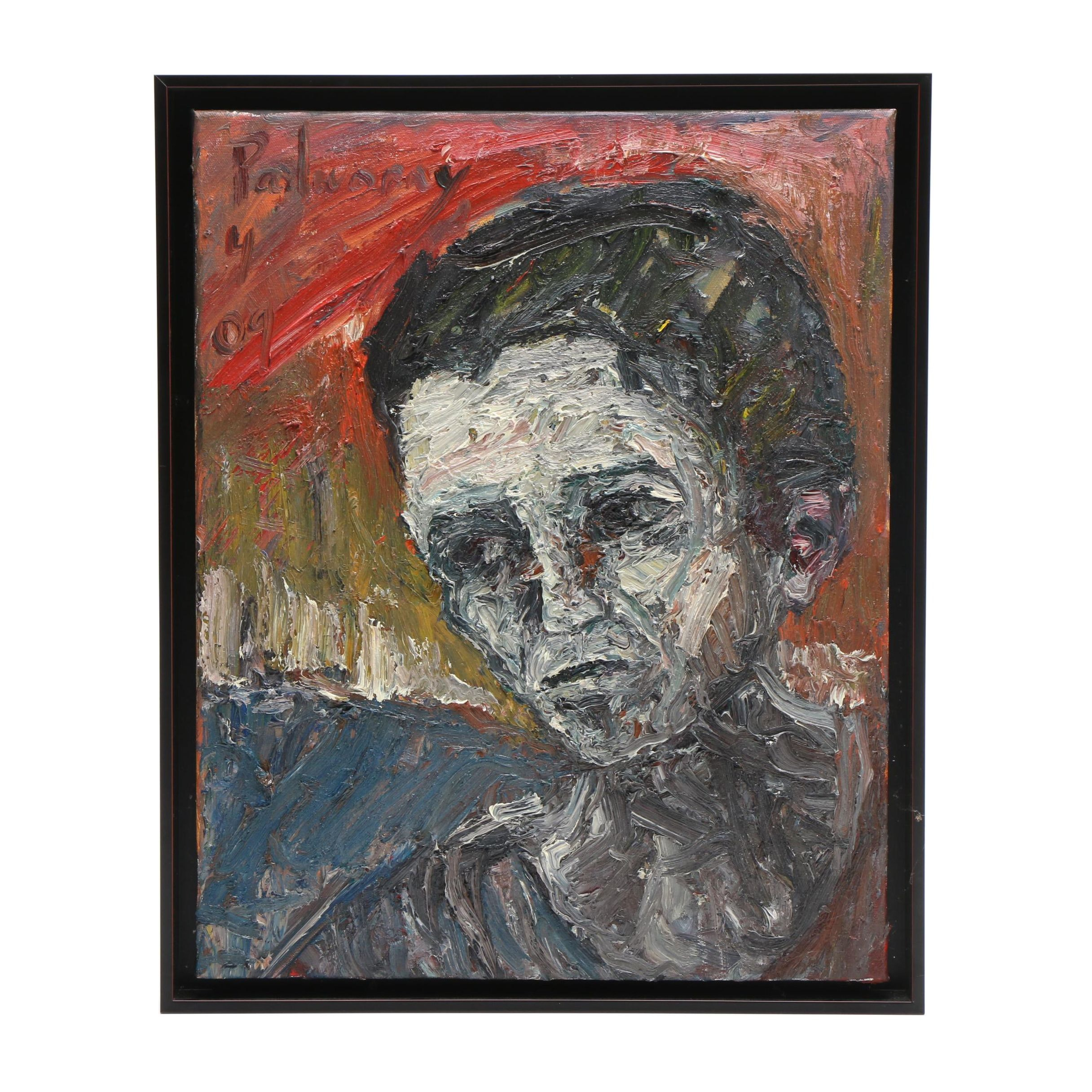 David Padworny 2009 Abstract Expressionist Style Portrait