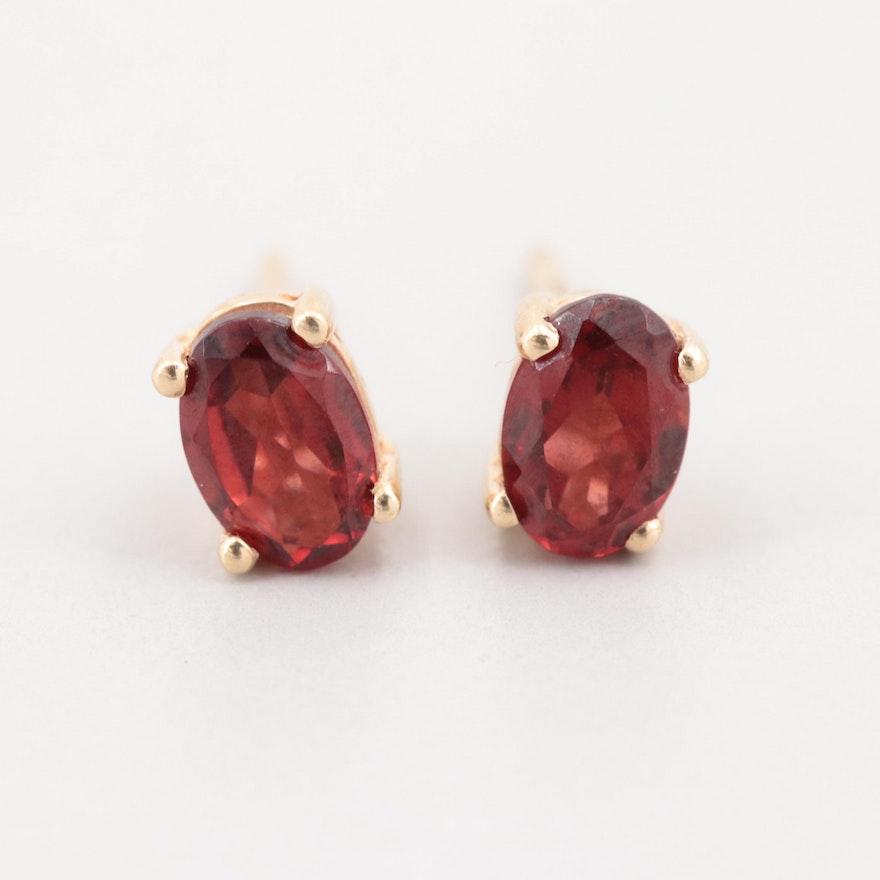 823e9af67 10K Yellow Gold Garnet Stud Earrings : EBTH