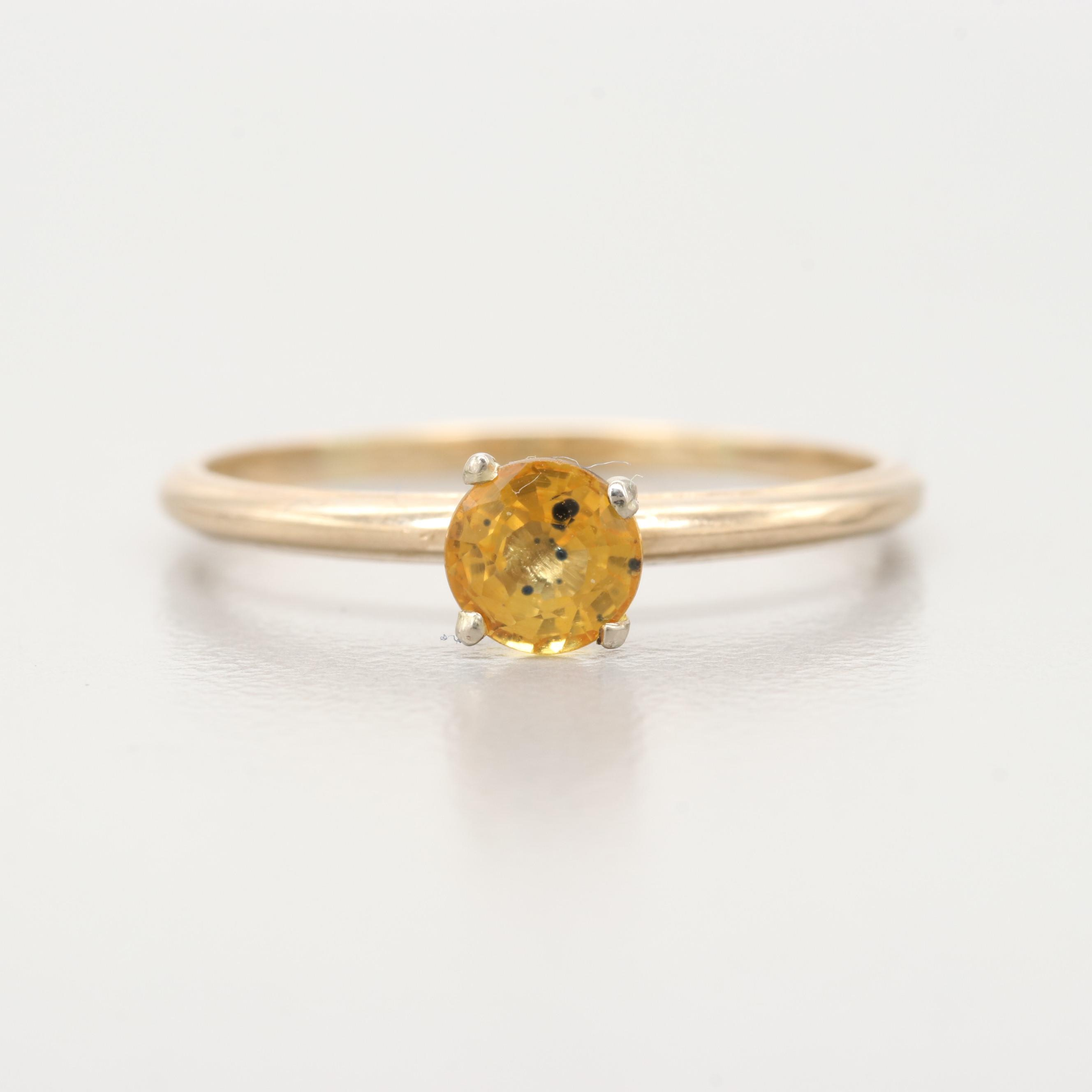 14K and 10K Yellow Gold Yellow Sapphire Ring