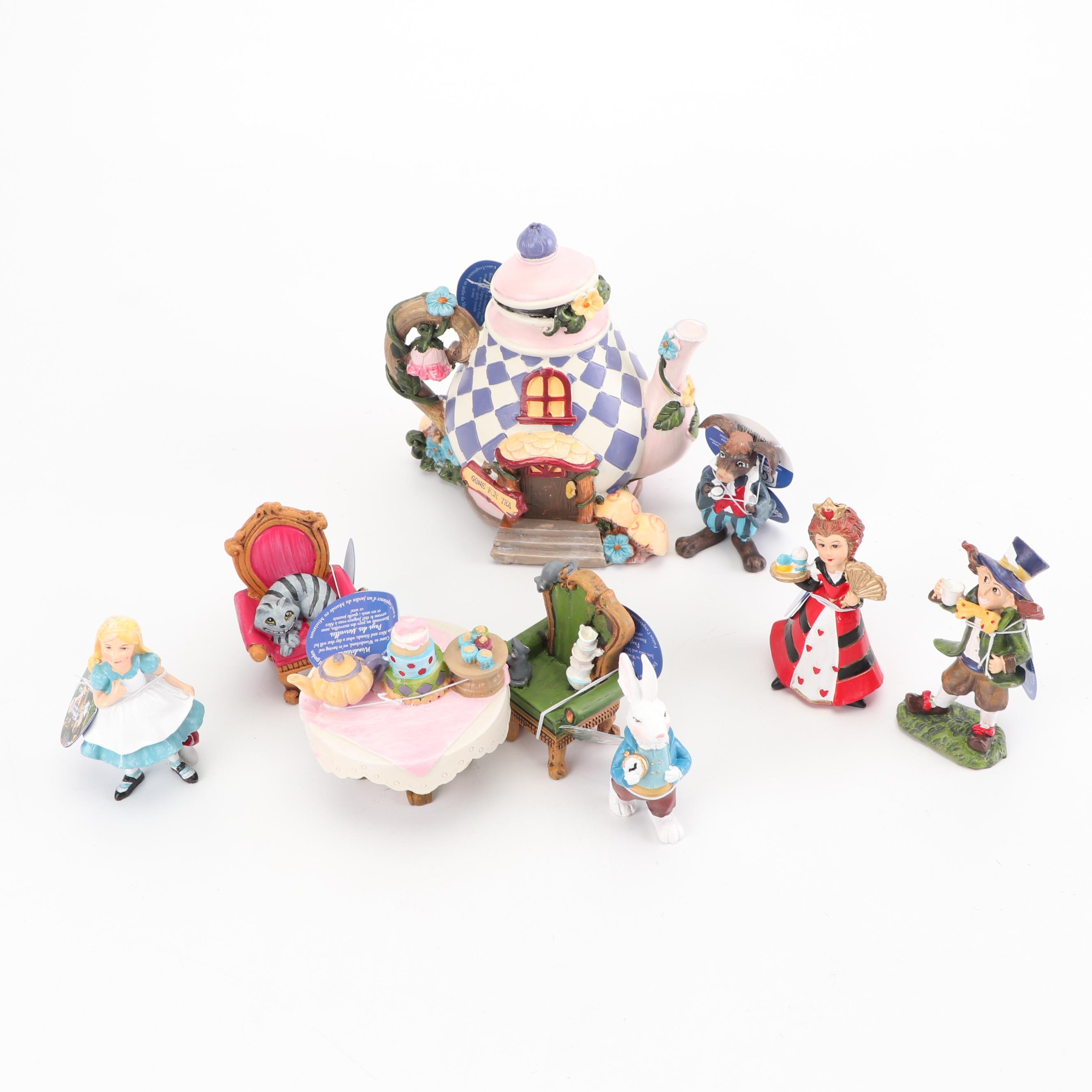 """""""Alice in Wonderland"""" Miniature Figurines by Giftcraft"""