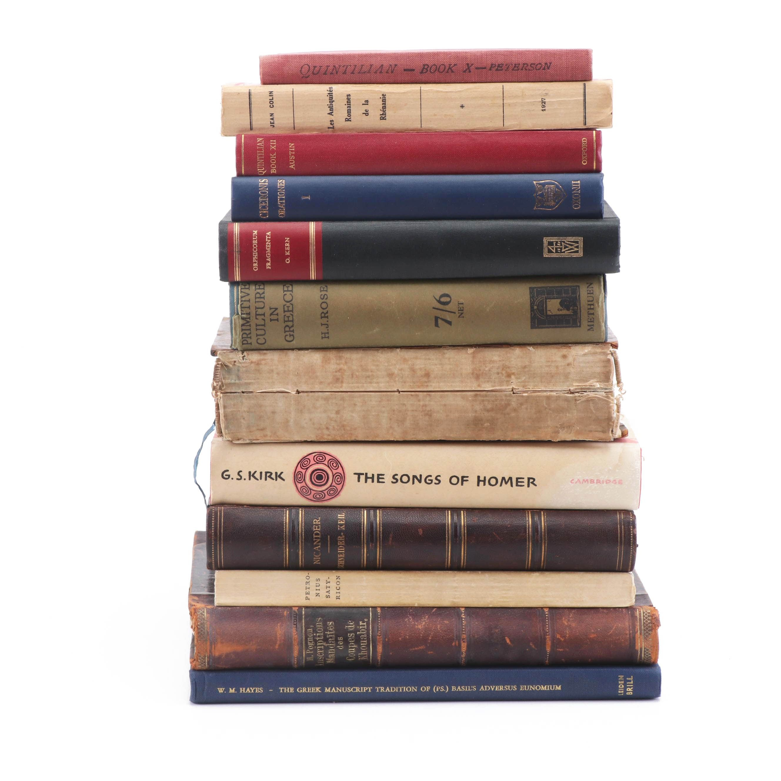 Greek History Books and Classics in Latin and Translated in English and French