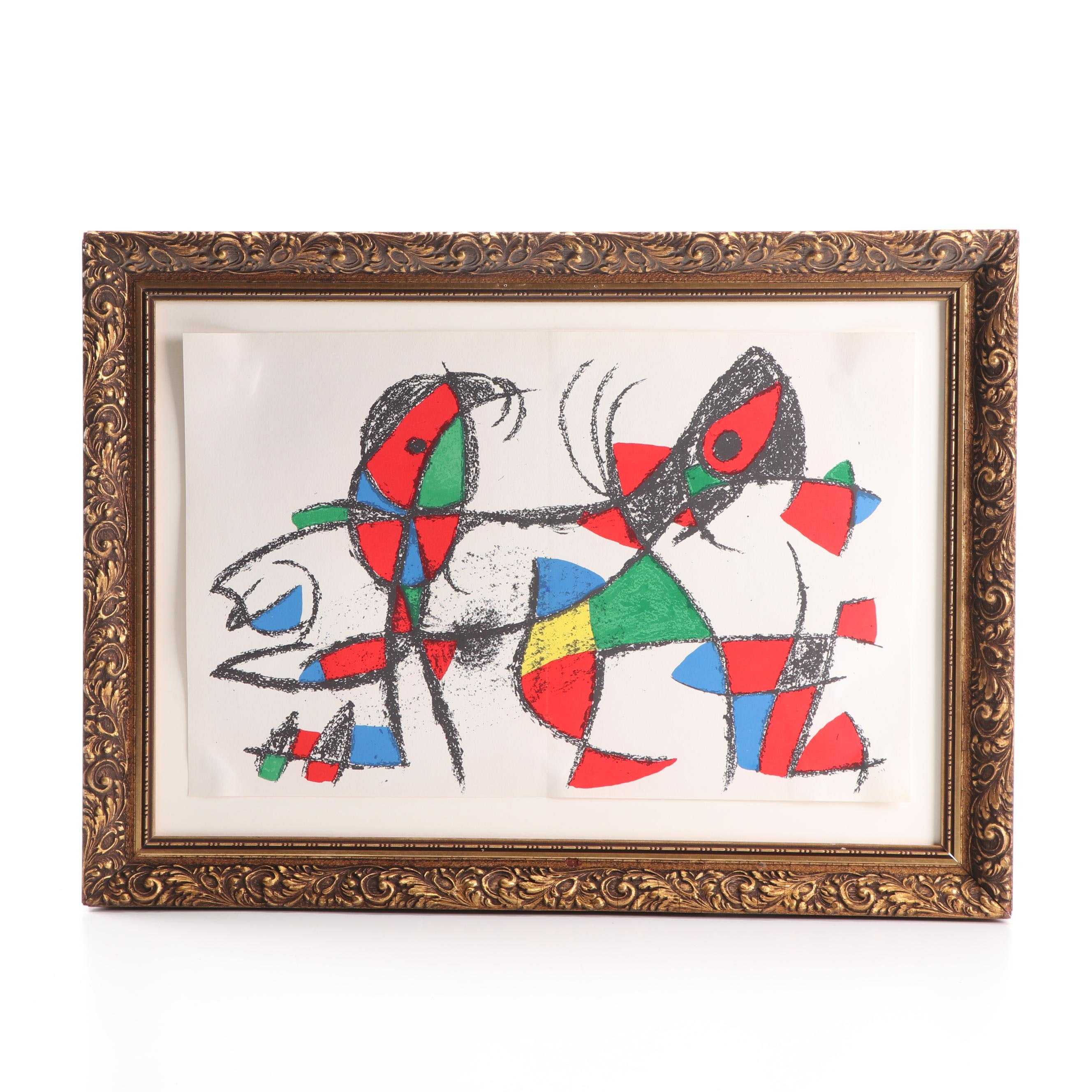 """Joan Miró Color Lithograph from """"Lithographs Vol. II"""""""