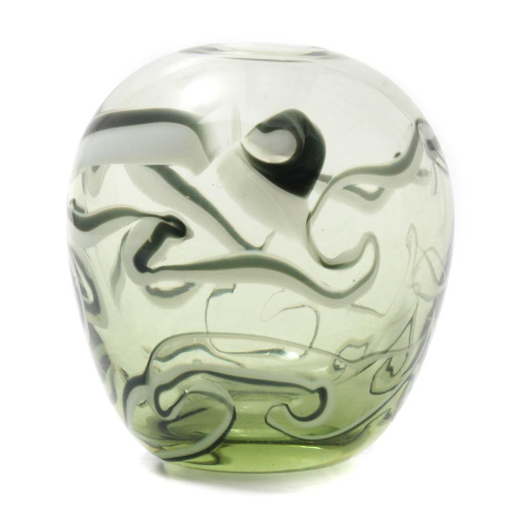 Dominick Labino Blown Glass Vase, 1970