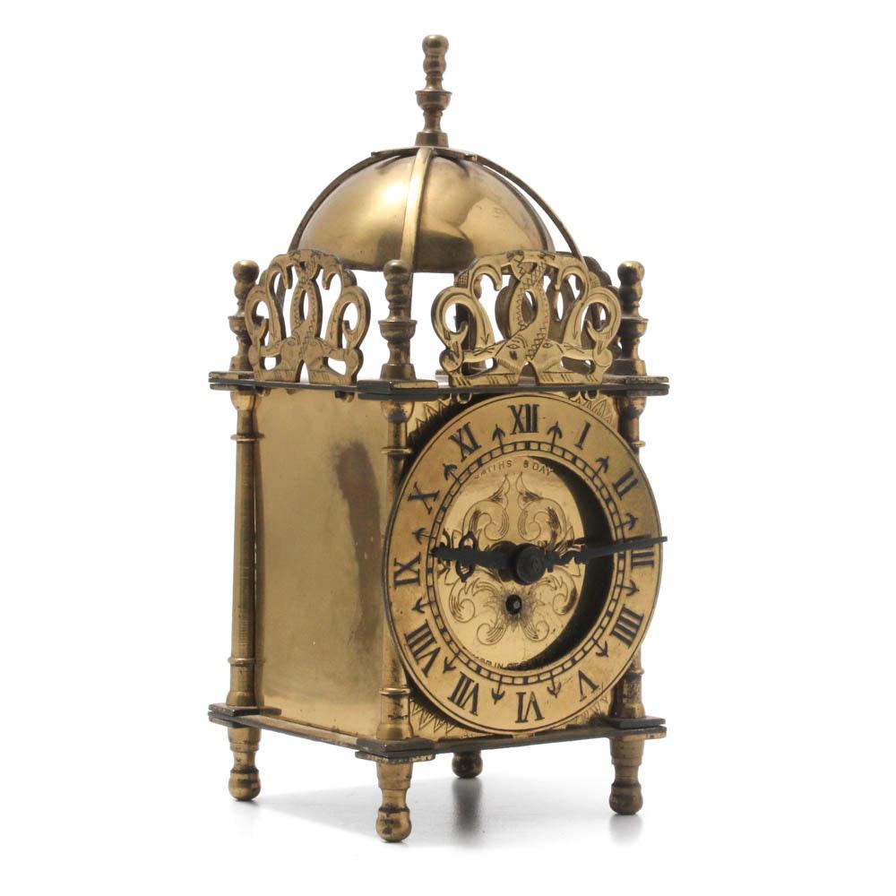 Vintage Smiths & Day Brass Lantern Clock