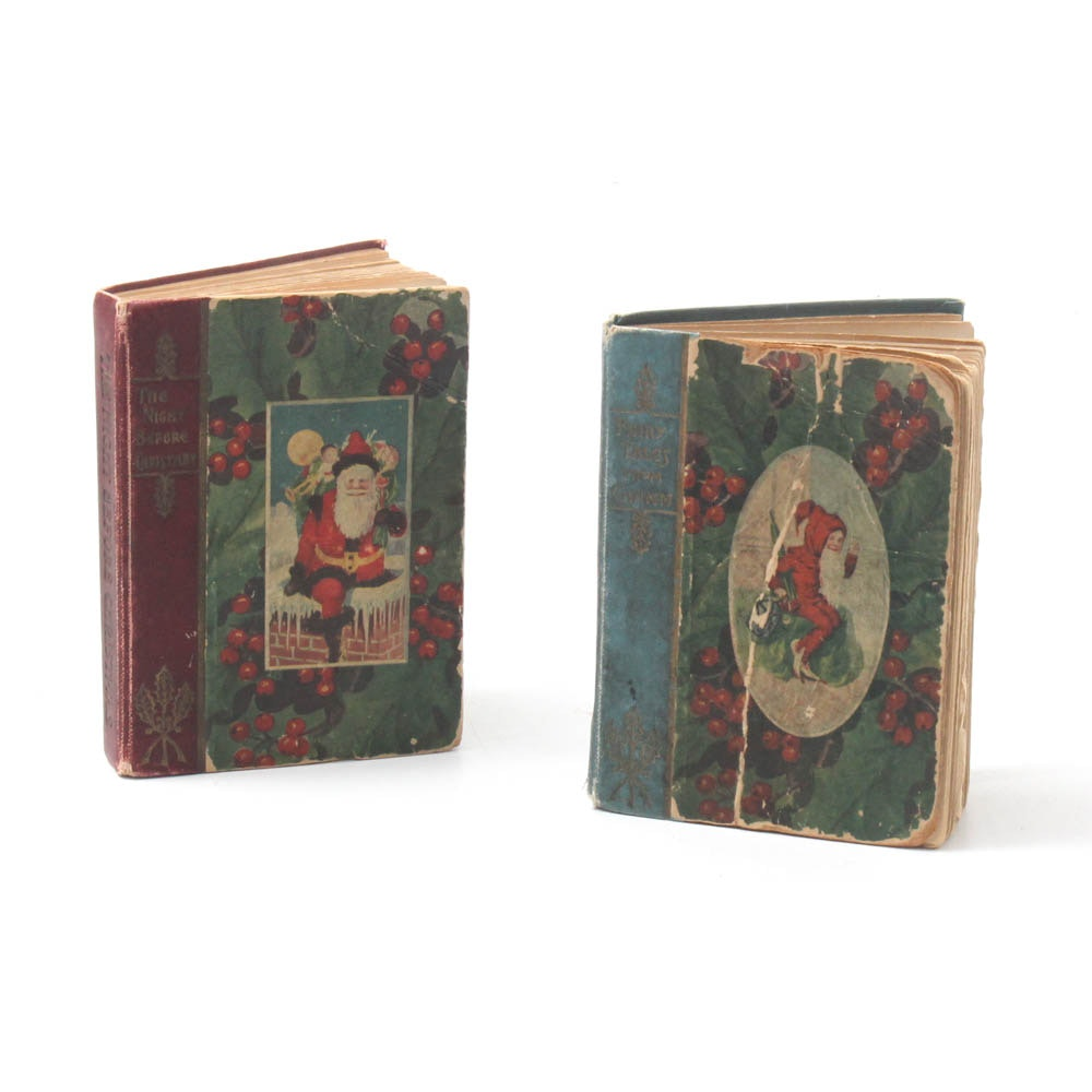 "1905 First Edition L. Frank Baum ""Christmas Stocking"" Series Books"