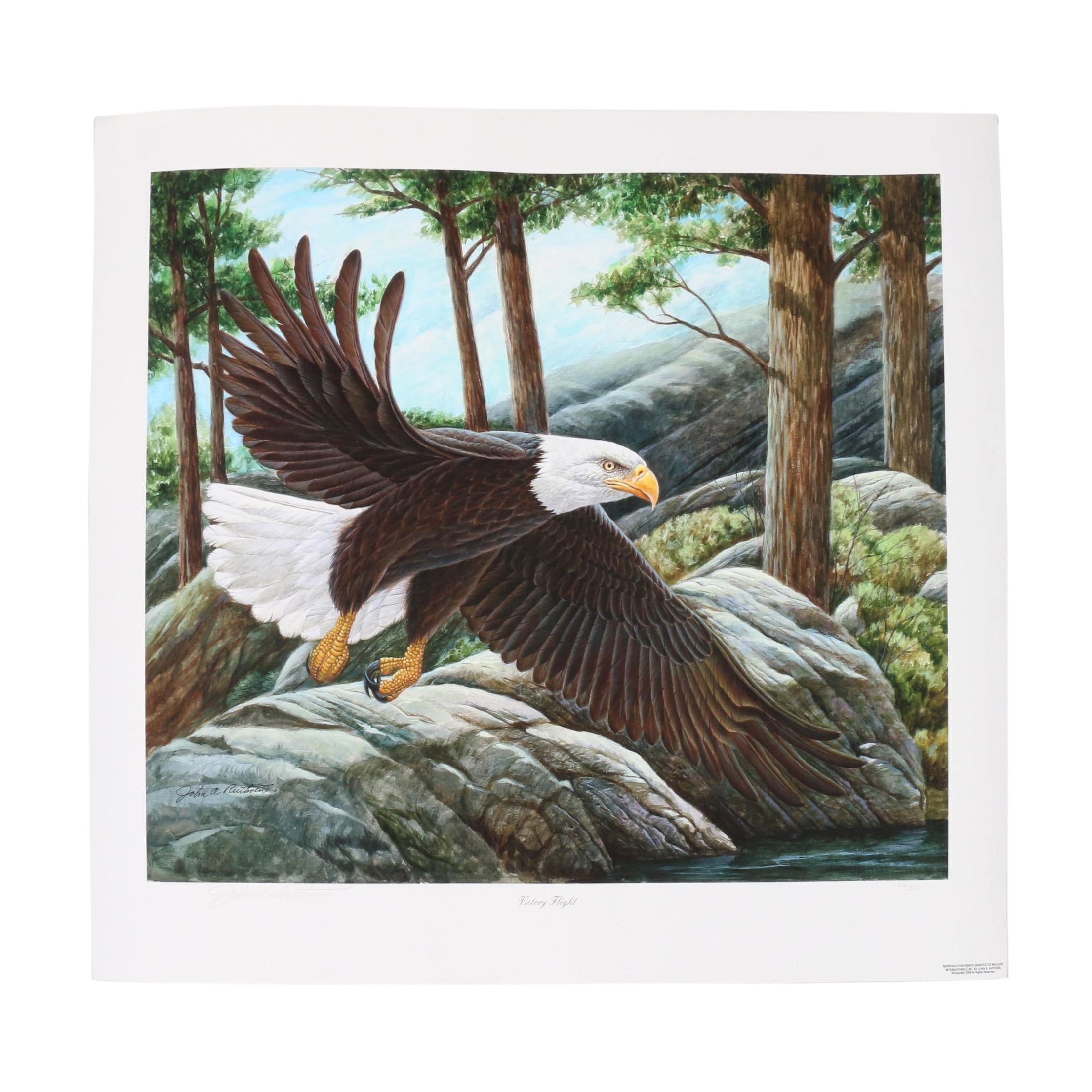 """John Ruthven Limited Edition Offset Lithograph """"Victory Flight"""""""