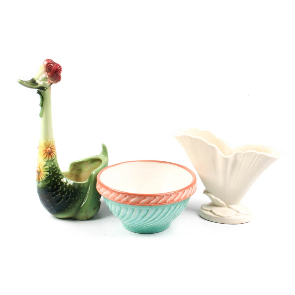 Vintage Ceramics Featuring Hull and Weller