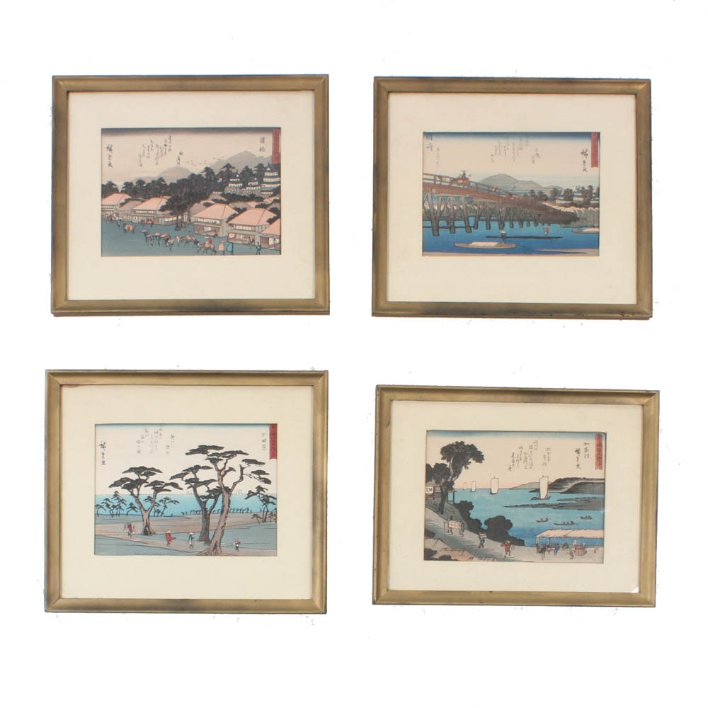 Japanese Woodblock Prints After Utagawa Hiroshige