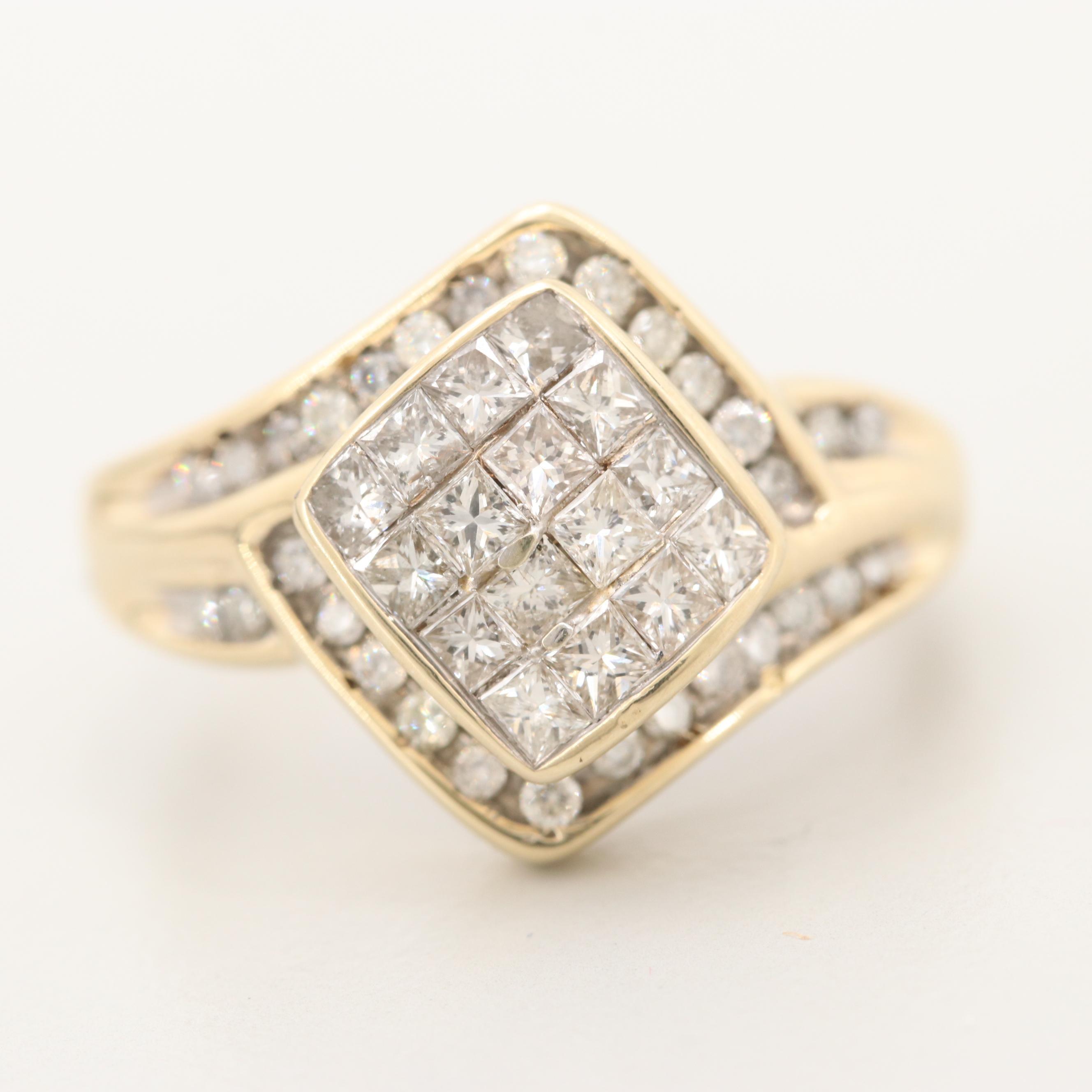 10K Yellow Gold 1.02 CTW Diamond Ring