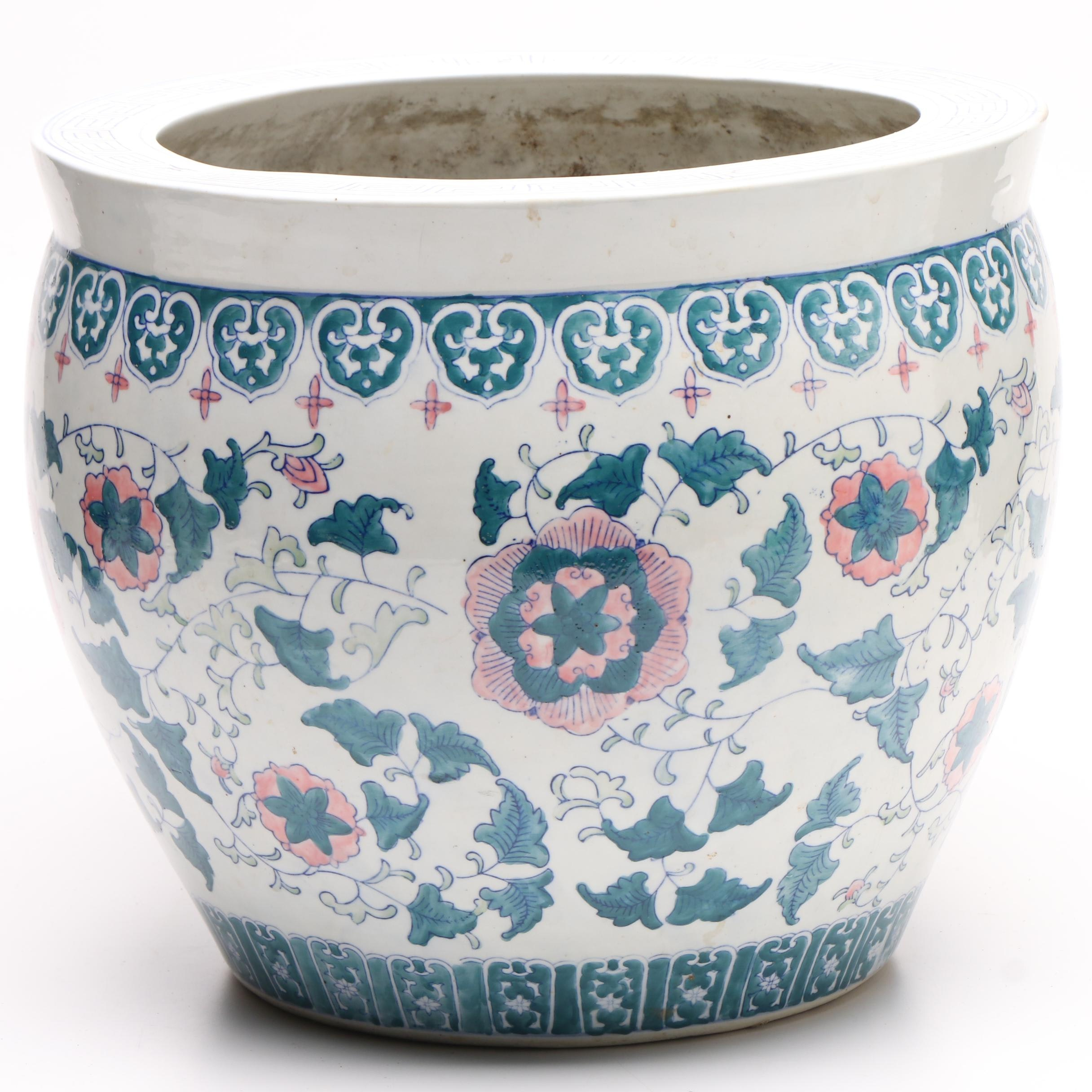Chinese Porcelain Floral Jardiniere