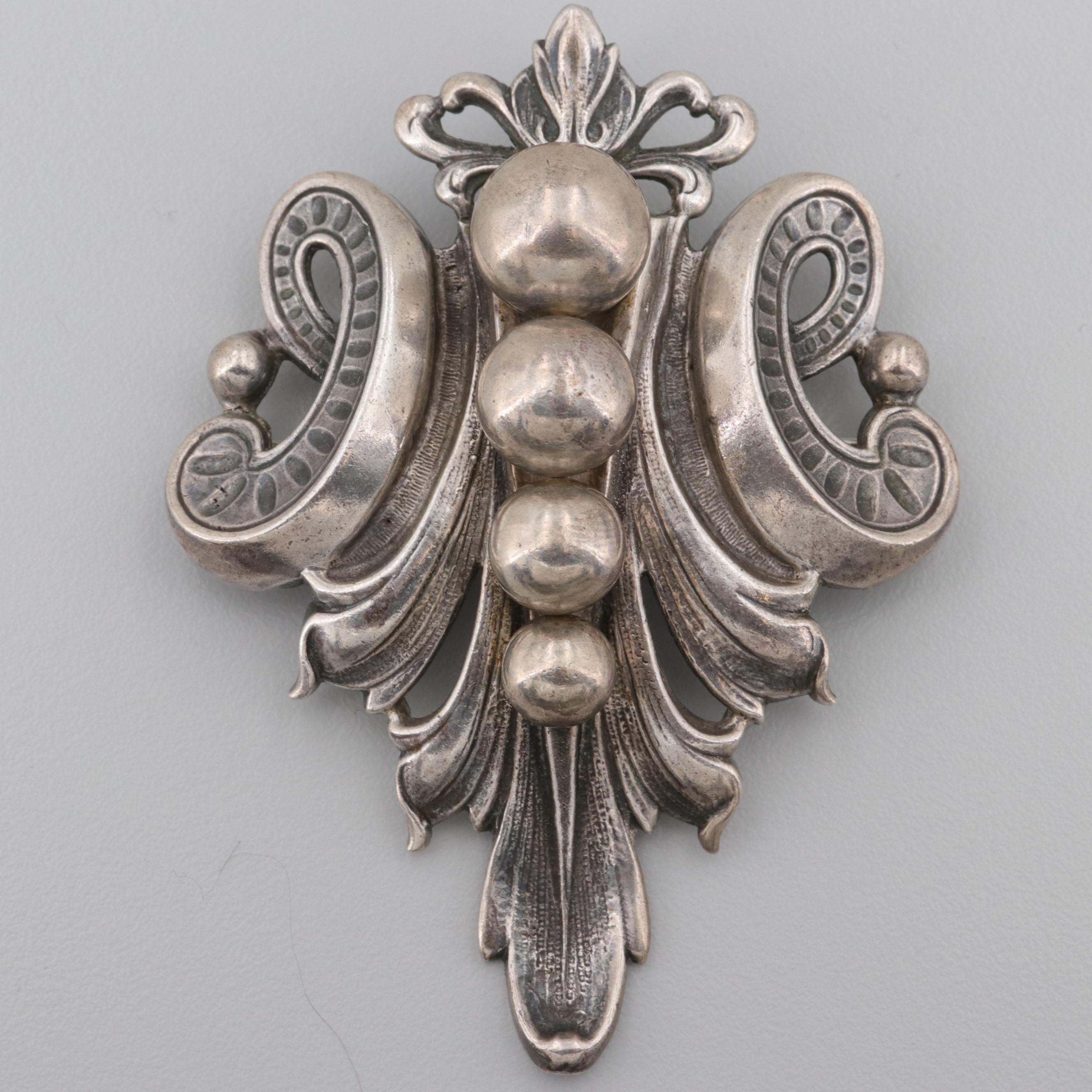 Vintage Guglielmo Cini Sterling Silver Brooch