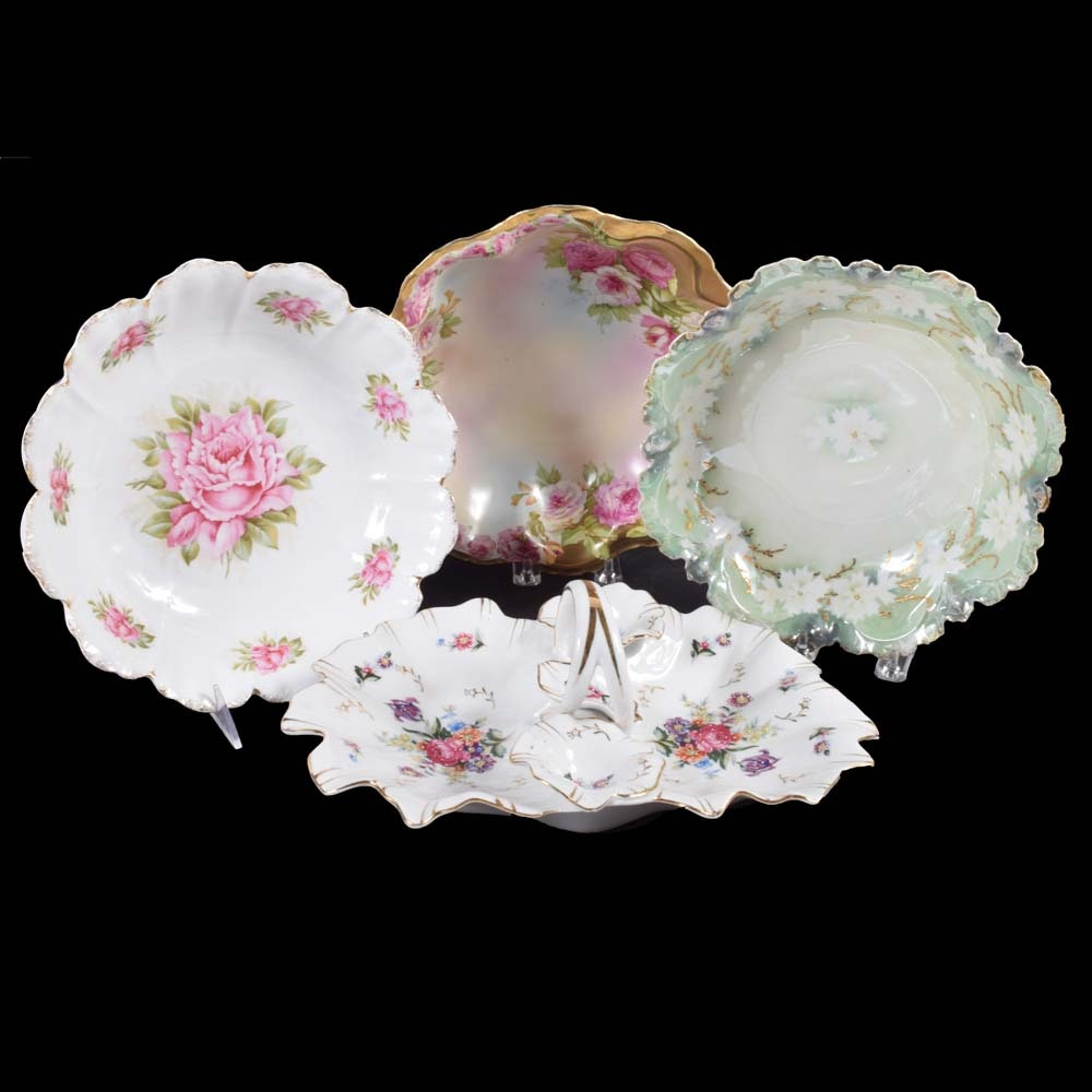 Porcelain Bowls and Handled Tray including RS Prussia and Rosenthal